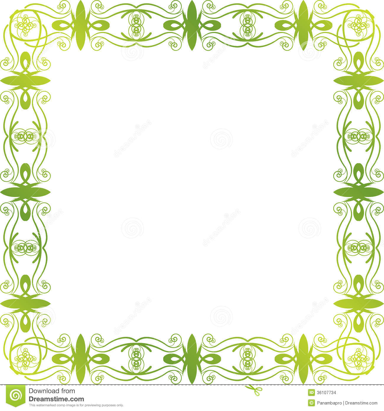 free green floral frame - photo #29