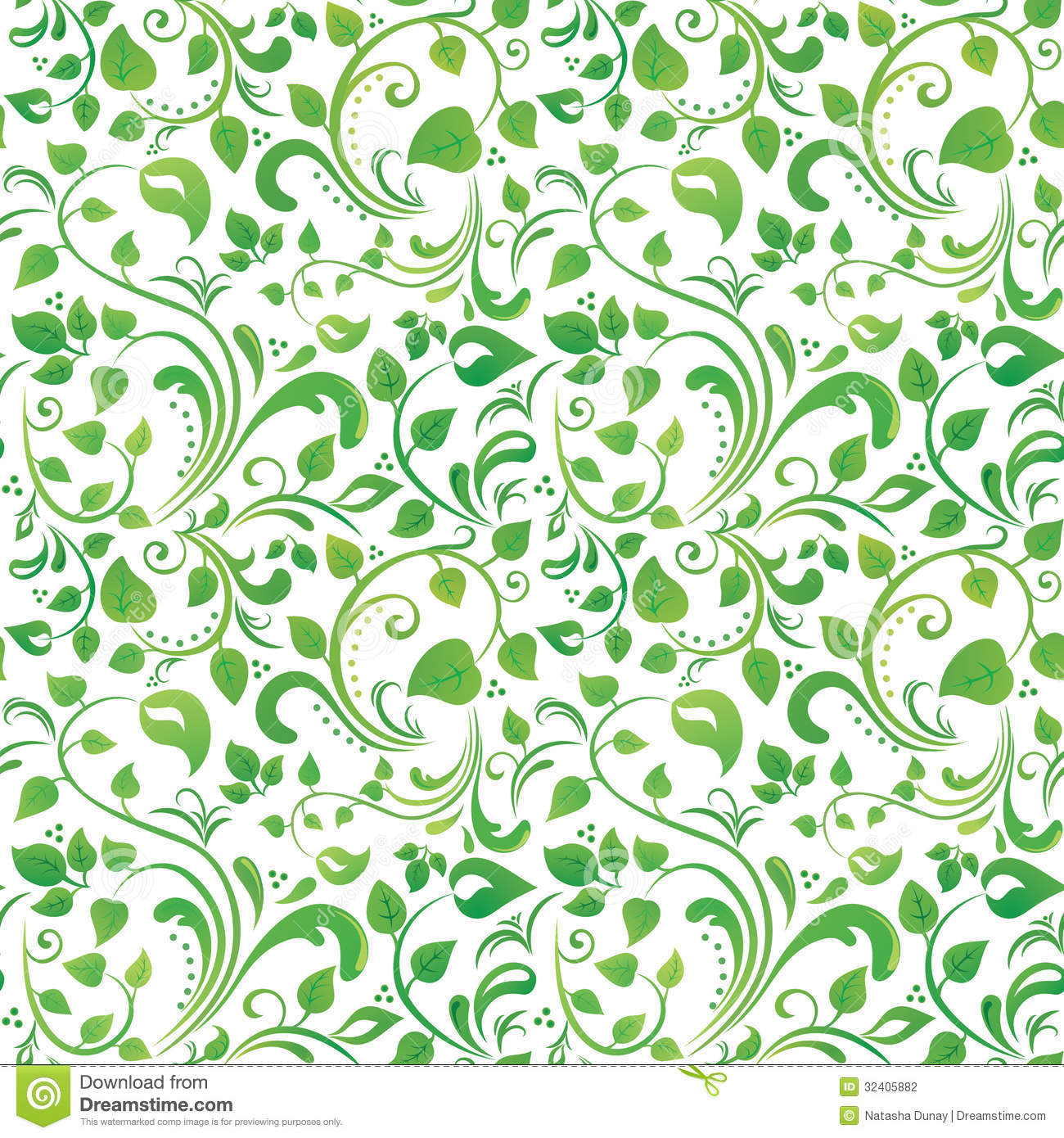 Green floral pattern stock vector. Image of texture ...
