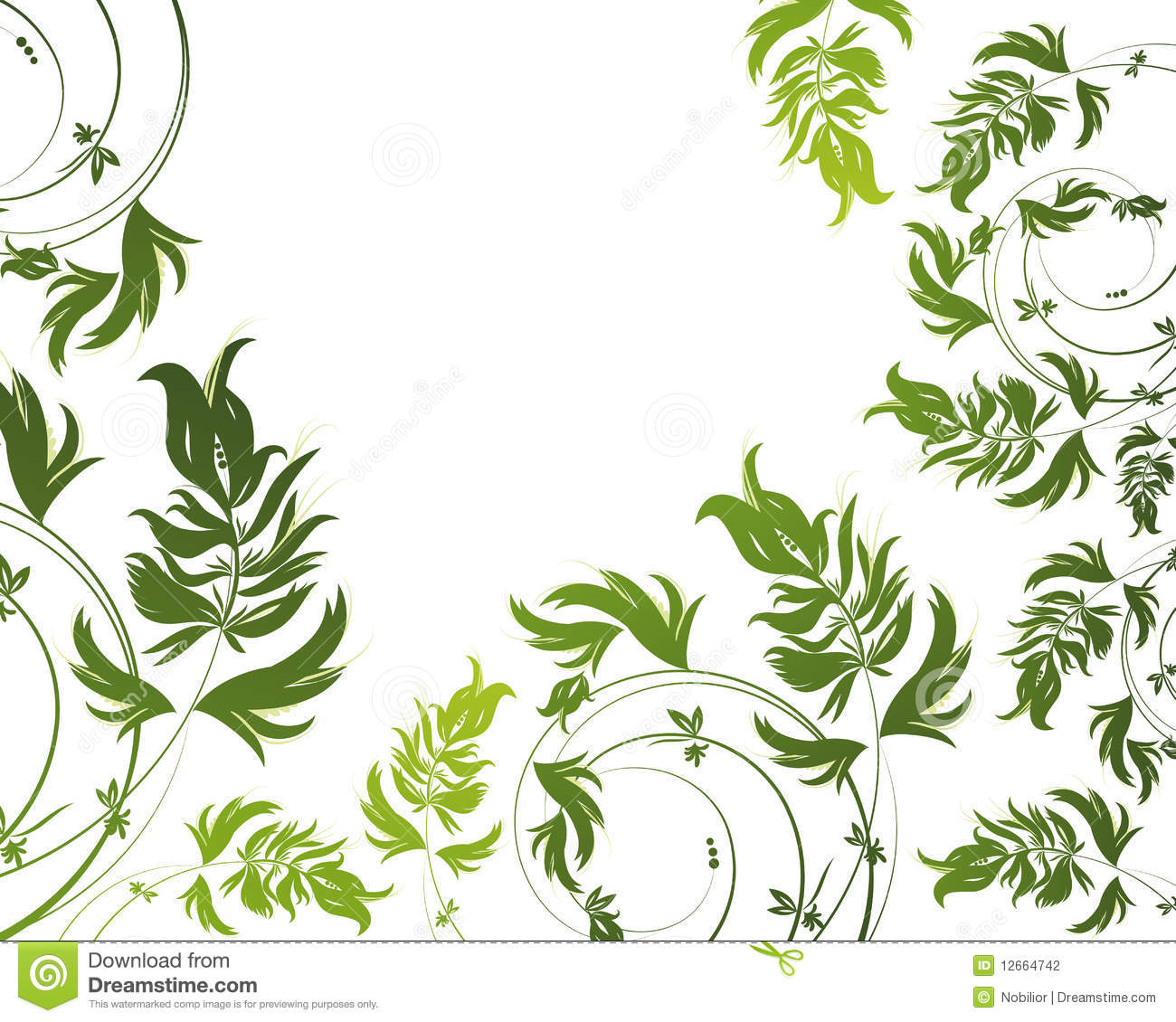 Green and white floral pattern - photo#14