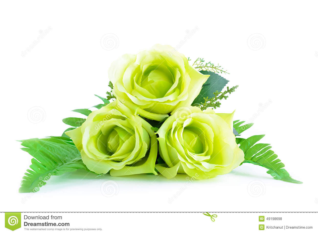 green flower bouquet on white background stock photo image of