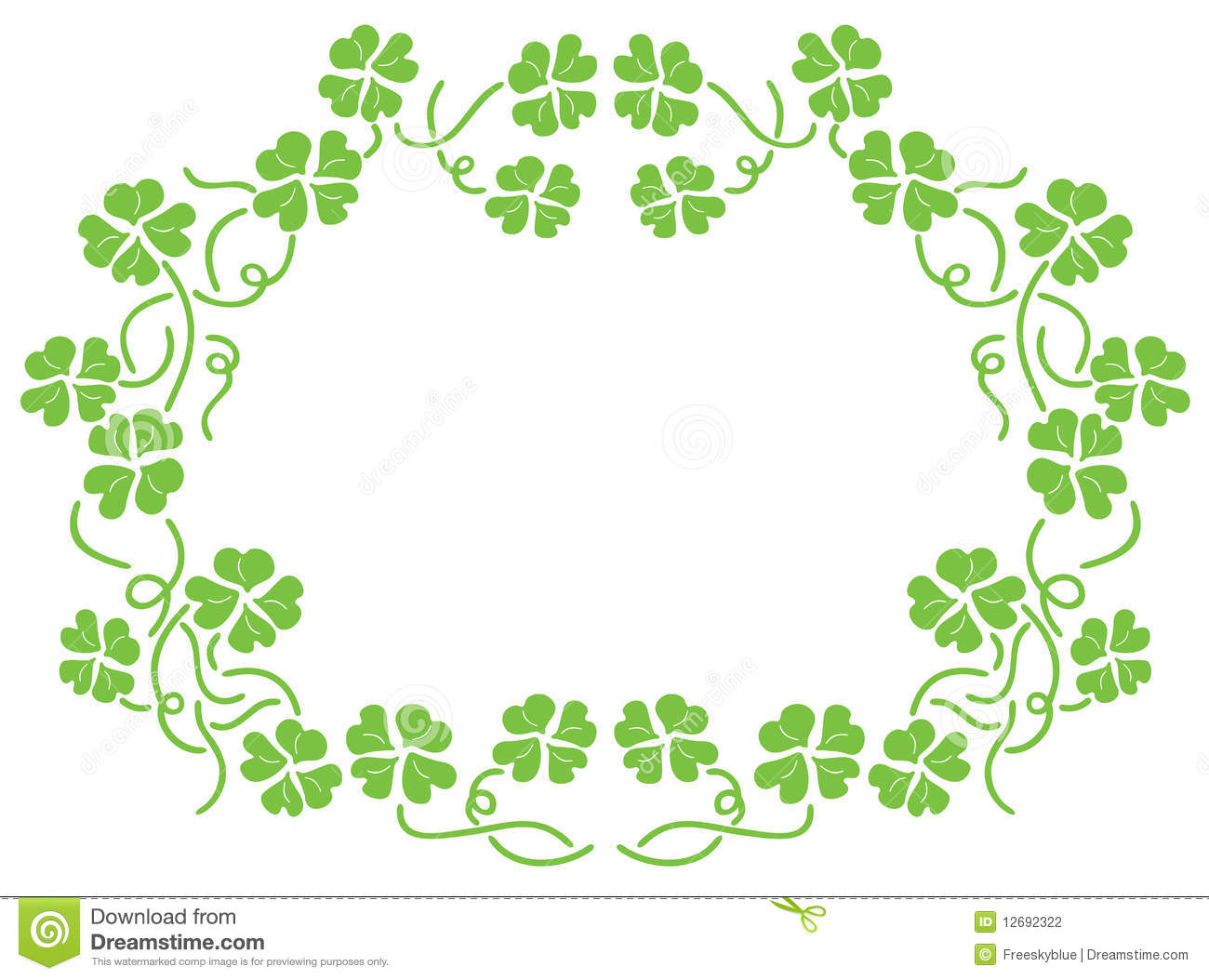 free green floral frame - photo #18