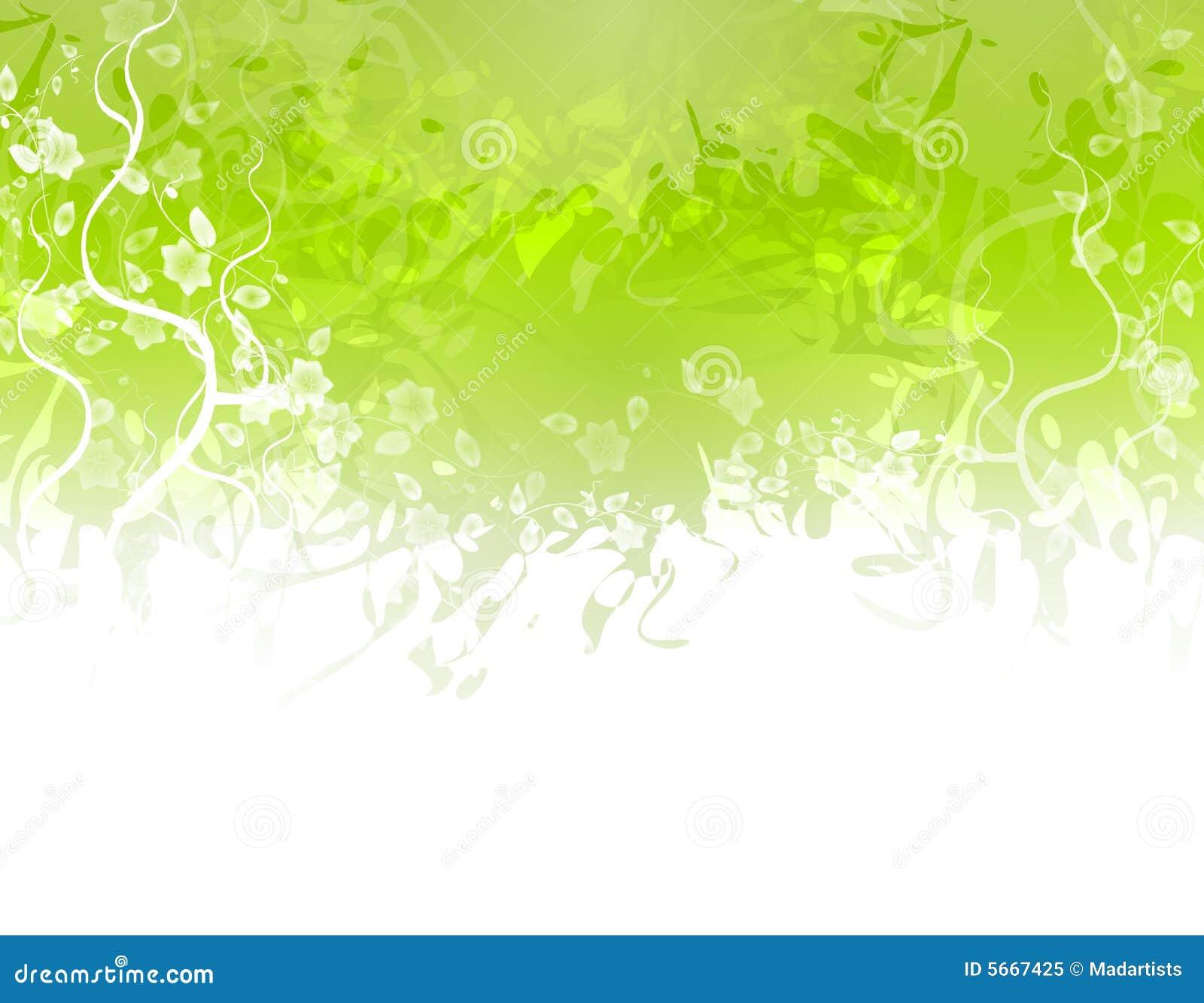 Green Flower Texture Border