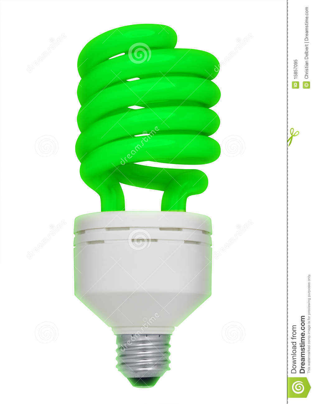 Green Fluorescent Light Bulb Isolated Royalty Free Stock Photo Image 15857095