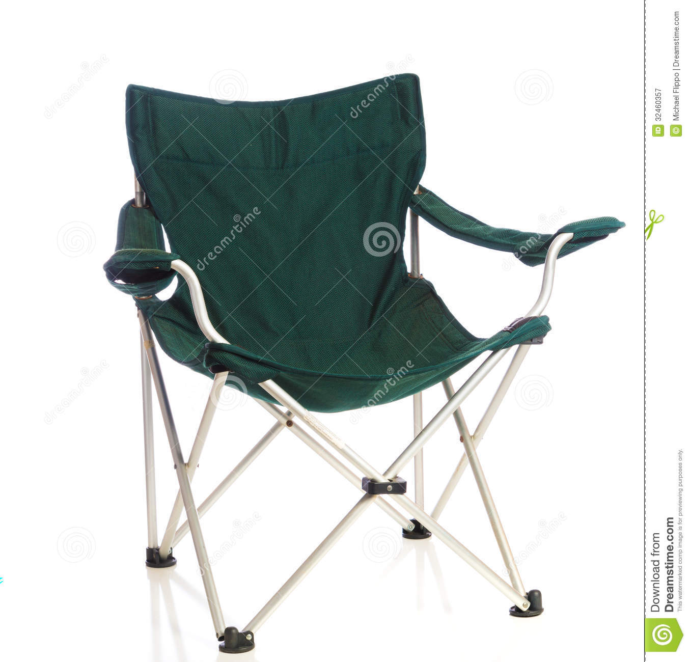 Green Folding Lawn Chair White Royalty Free Stock graphy Image 324