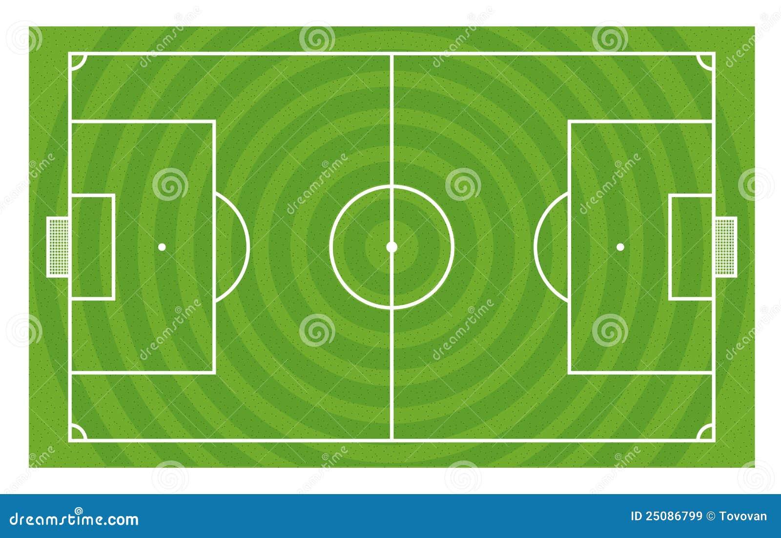 Green Football Field Template