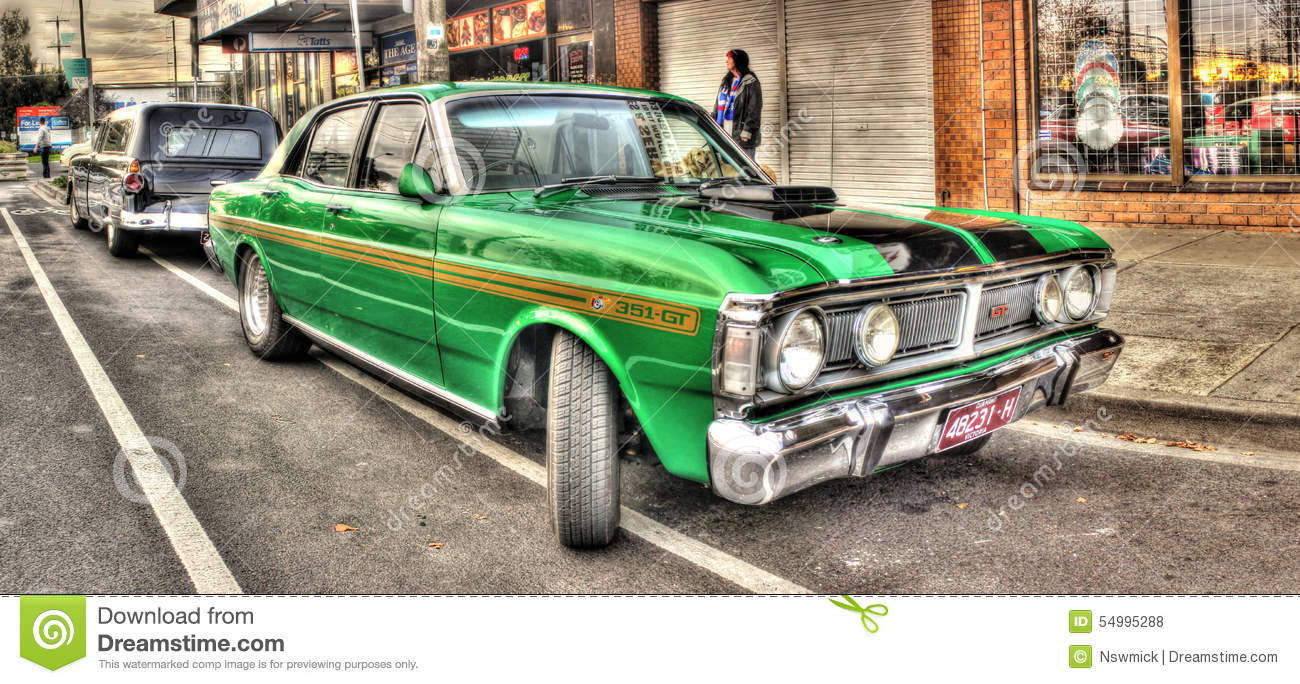 Green Ford Falcon 351 Gt Editorial Stock Photo Image