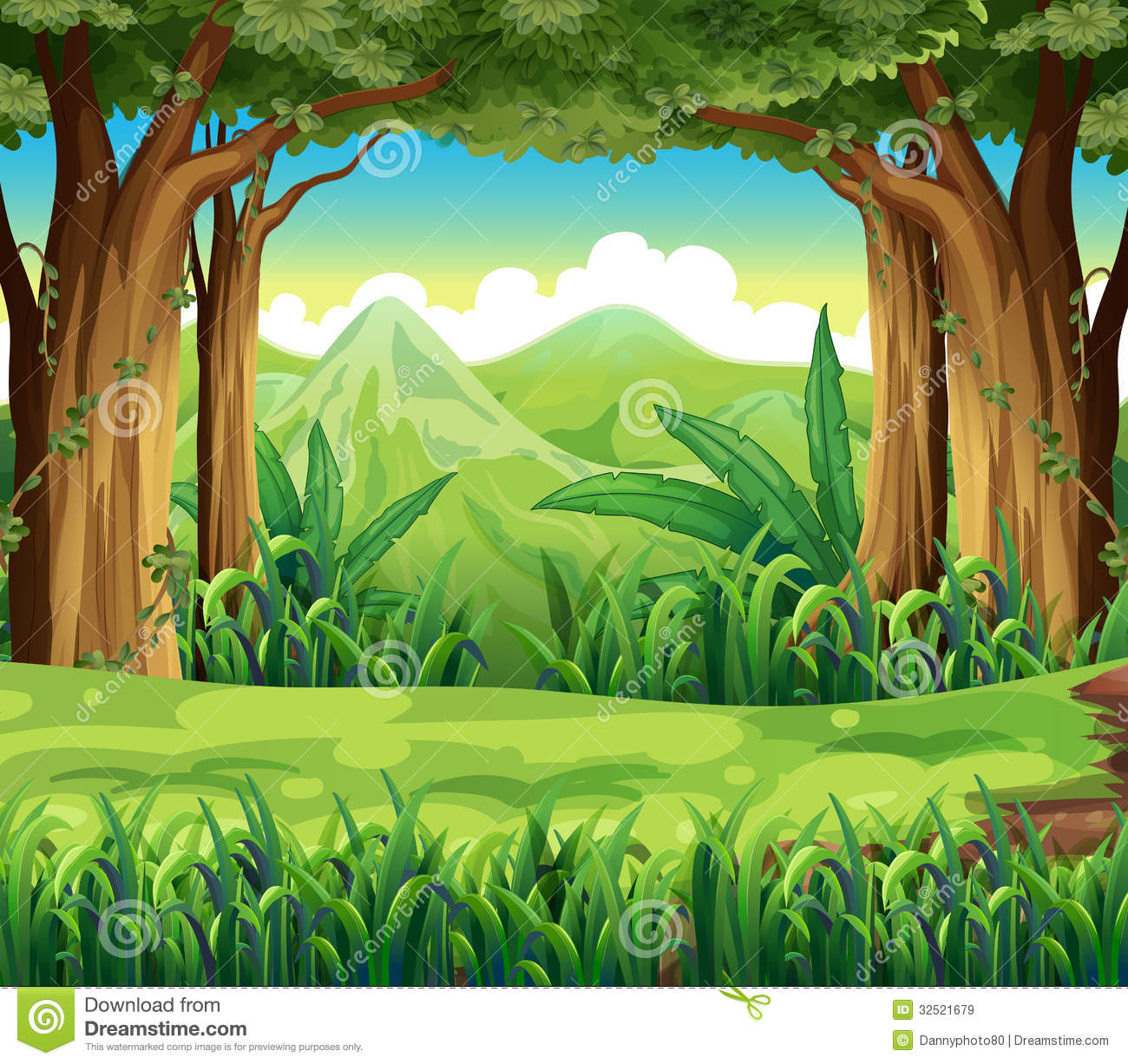 The Green Forest Royalty Free Stock Images - Image: 32521679