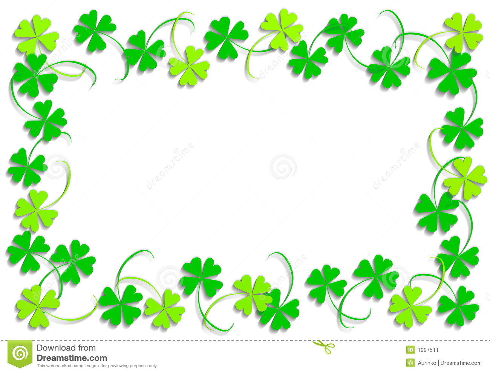 Green Four Leaf Clover Stock Illustration Illustration Of