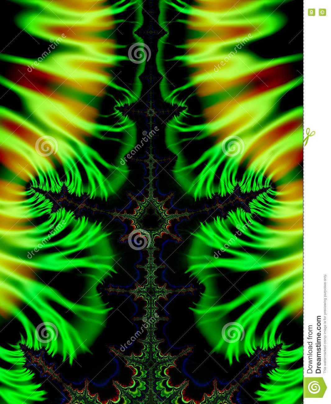 green fractals swirls stock photo. image of green, effect - 74647730