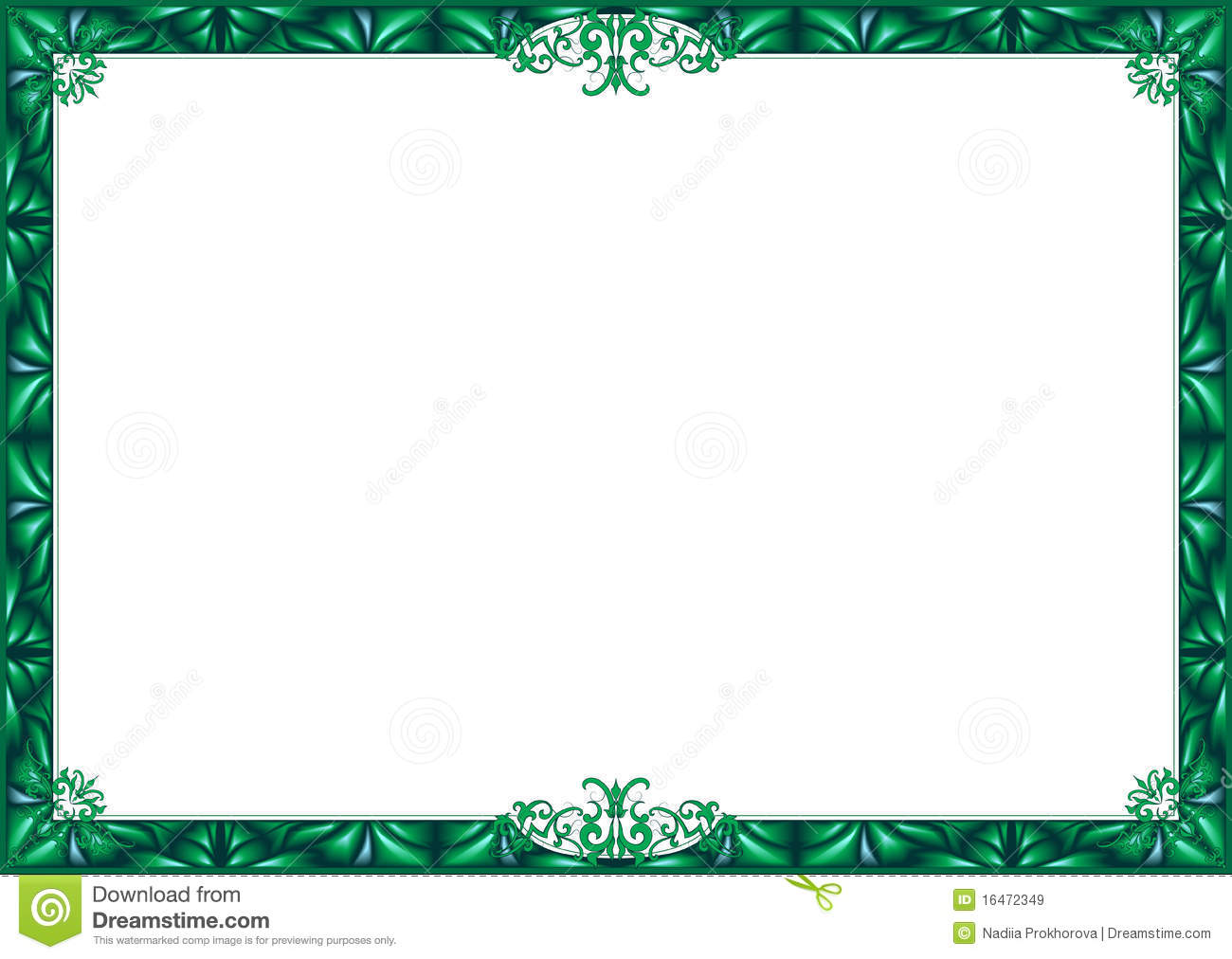green frame royalty free stock images image 16472349 music clipart borders free music clip art borders free