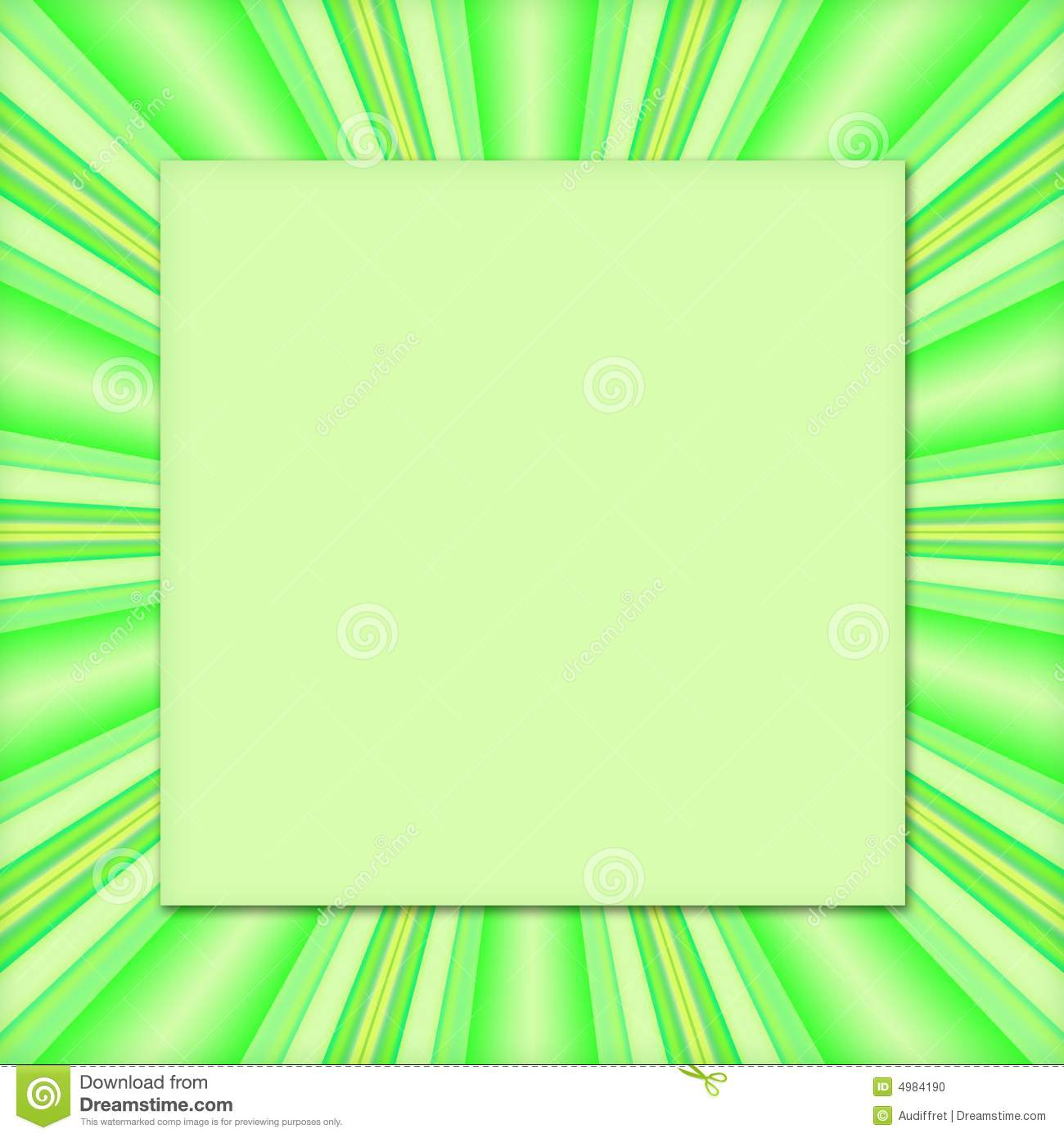 green frame background