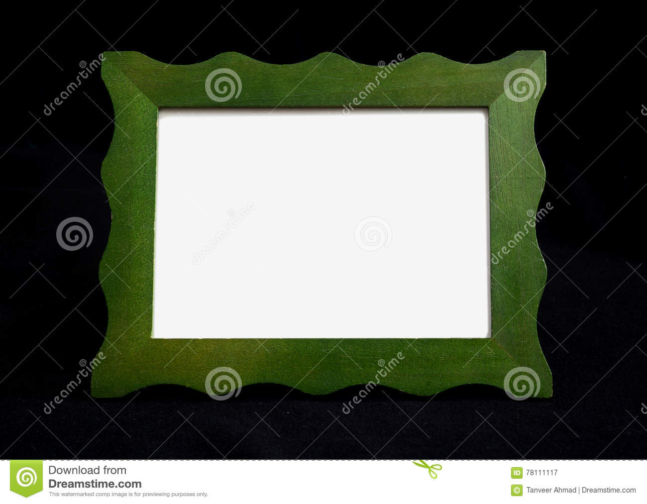 Green Frame Chalkboard On Black With Copy Space Stock Image - Image ...