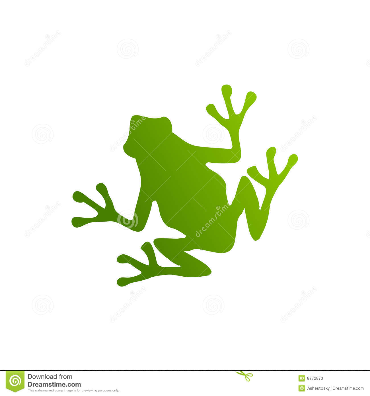 Green frog silhouette