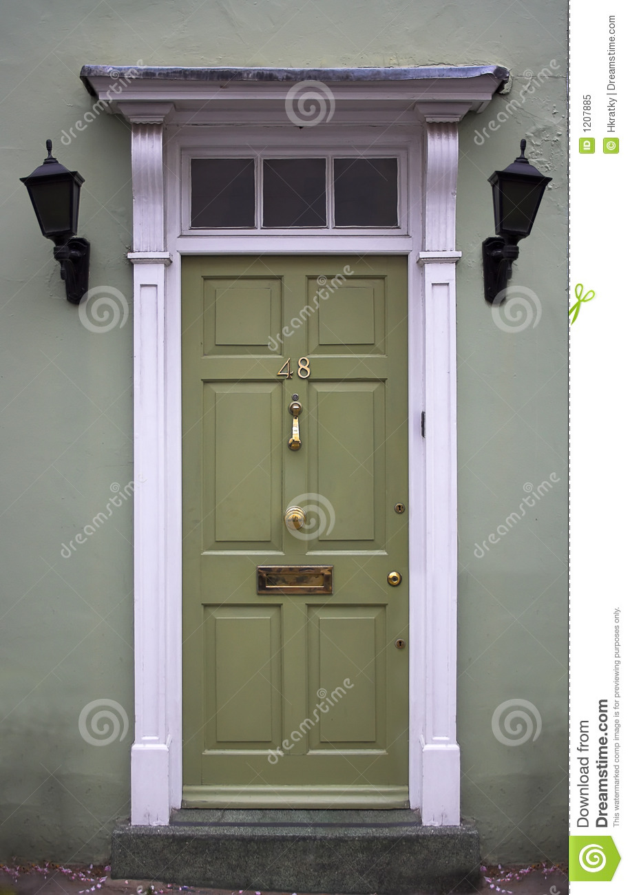 Green Front Door Stunning With Green Front Door Royalty Free Stock Photo  Image: 1207885 Pictures