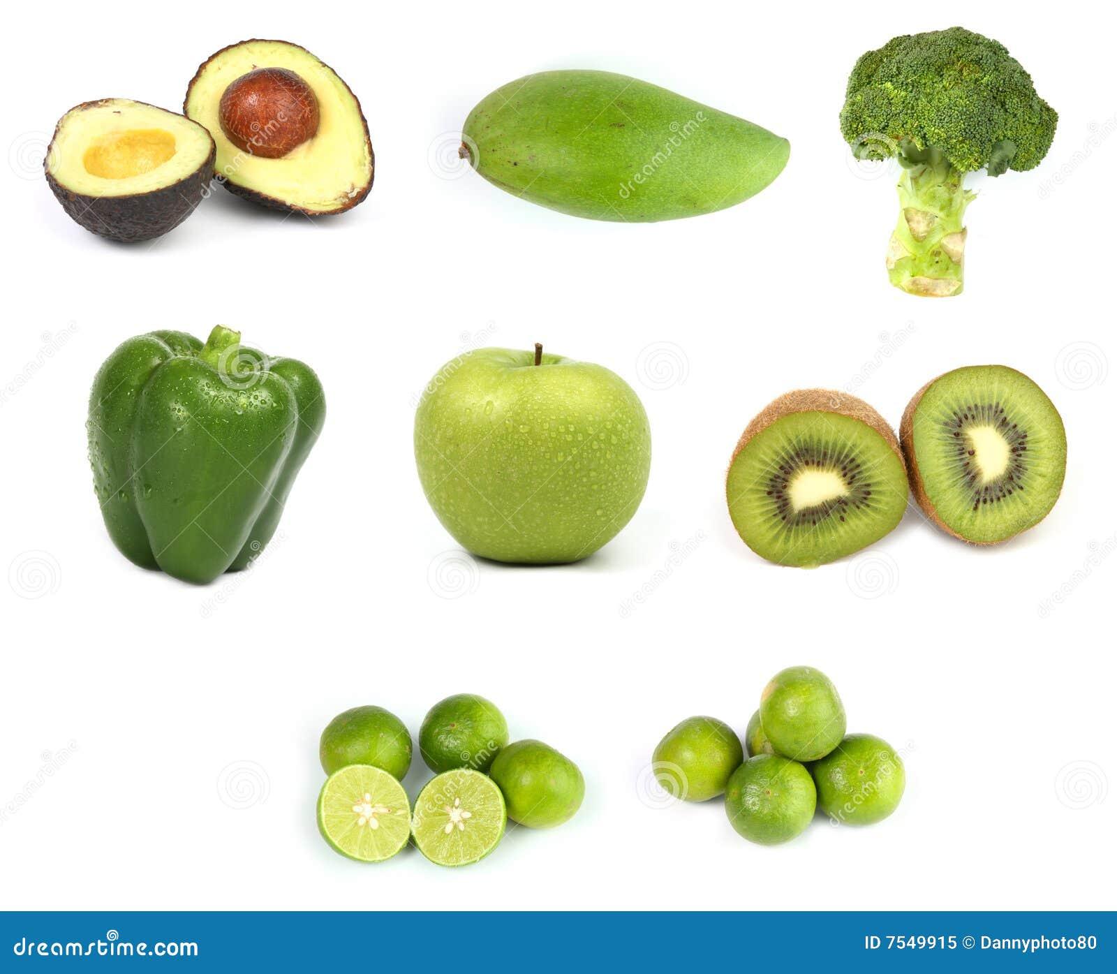 names of fruits green fruit