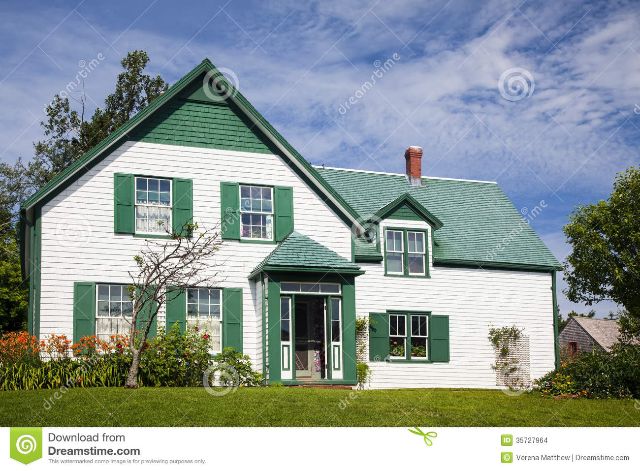 Green Gables House Stock Photo Image Of Maritime Nobody