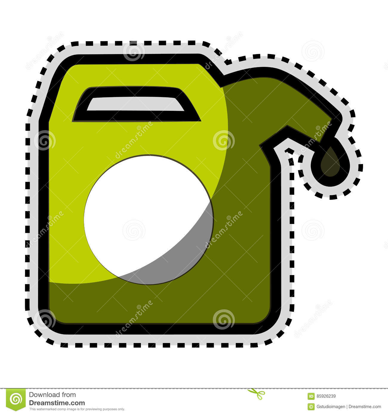 Green gallon isolated icon