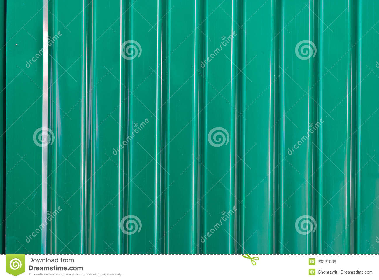 Green Galvanized Corrugated Sheet Stock Photo Image Of