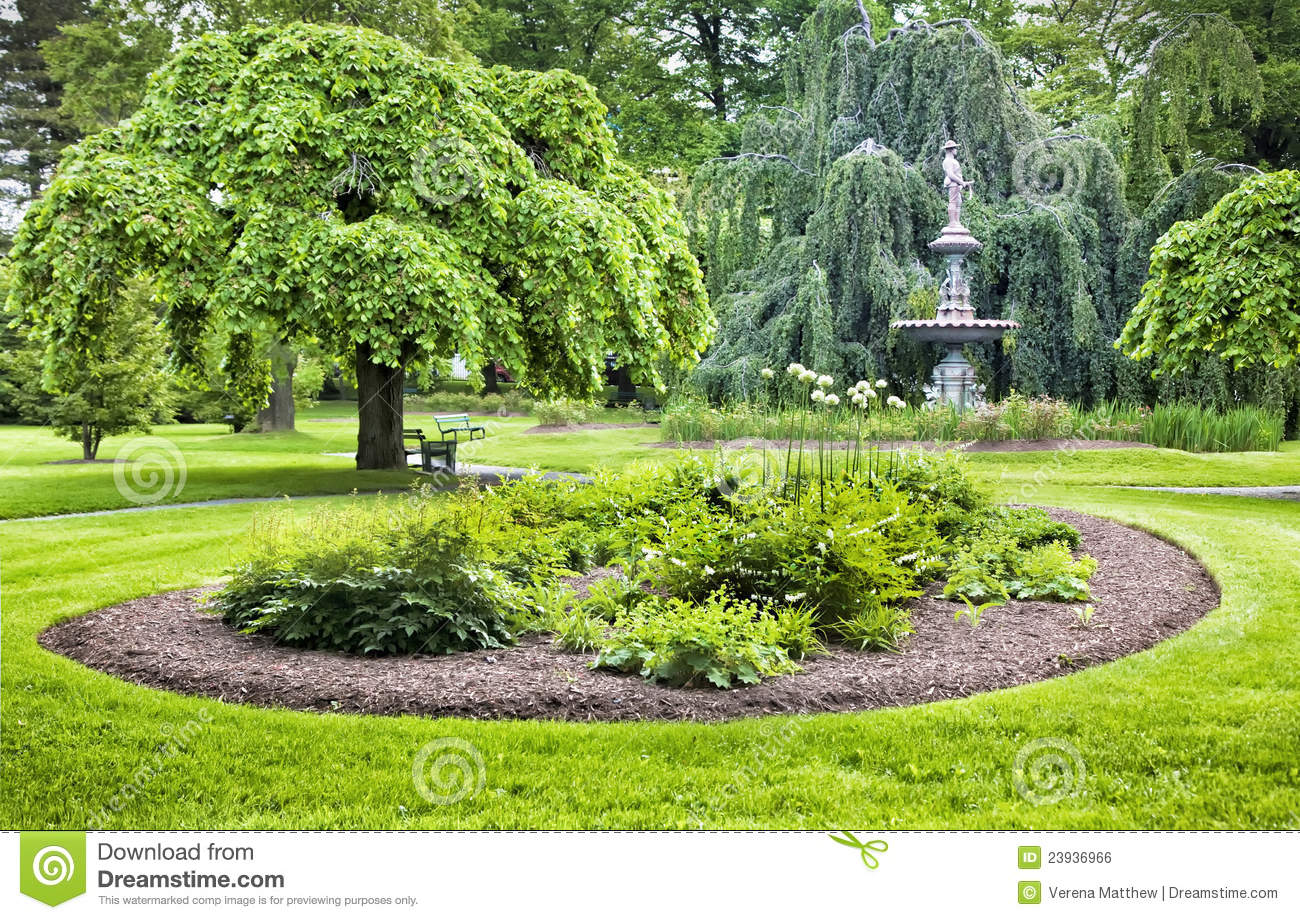 Green Garden stock photo  Image of landscape, green, lawn   23936966