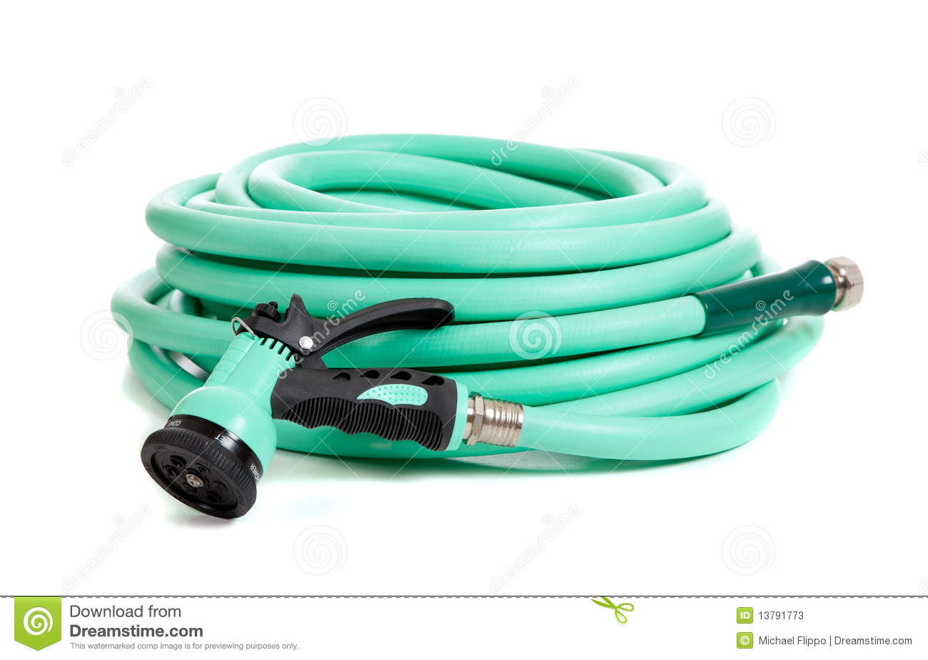 Green Garden Hose On A White Background Stock Photos  Image: 13791773 Pirate  Map Background