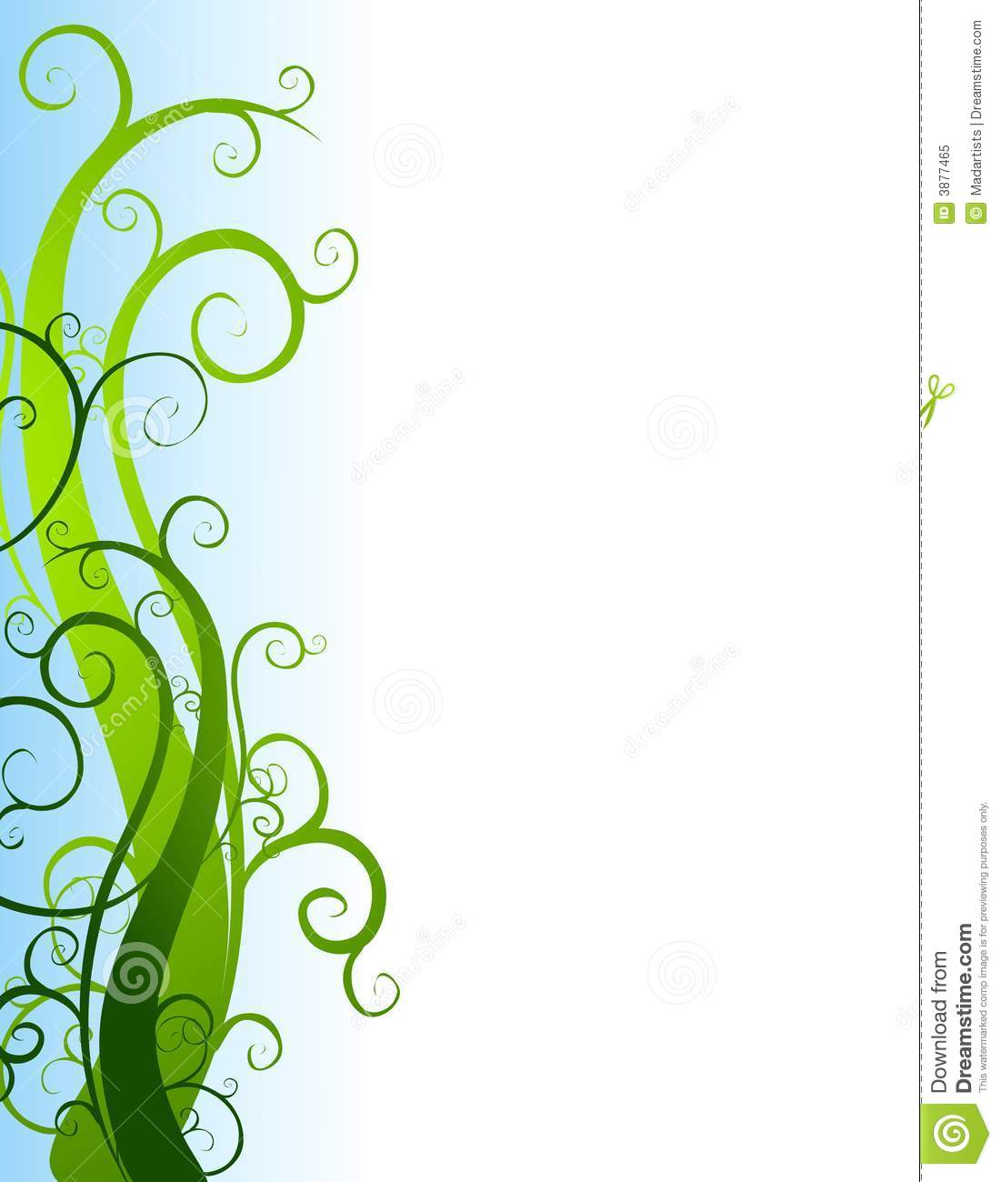 Green Garden Vines Border Royalty Free Stock Photo Image 3877465
