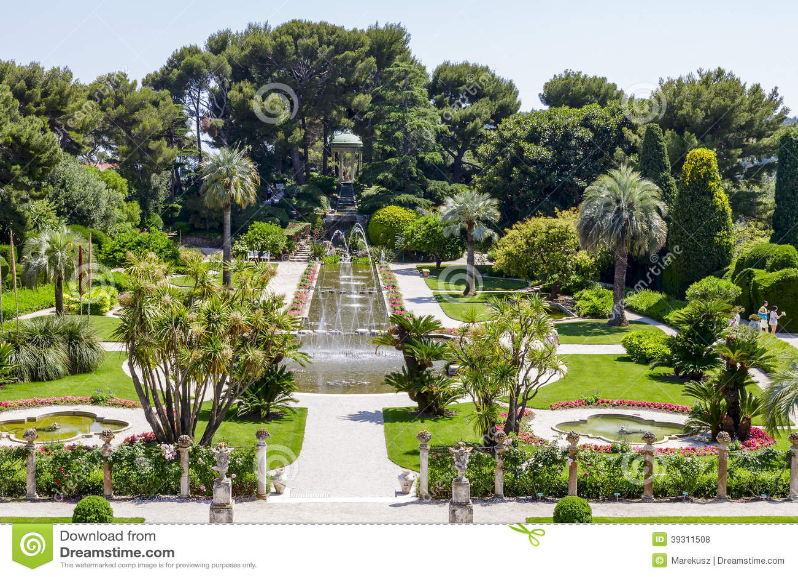 Green gardens of villa ephrussi de rothschild editorial - Maison ephrussi de rothschild ...