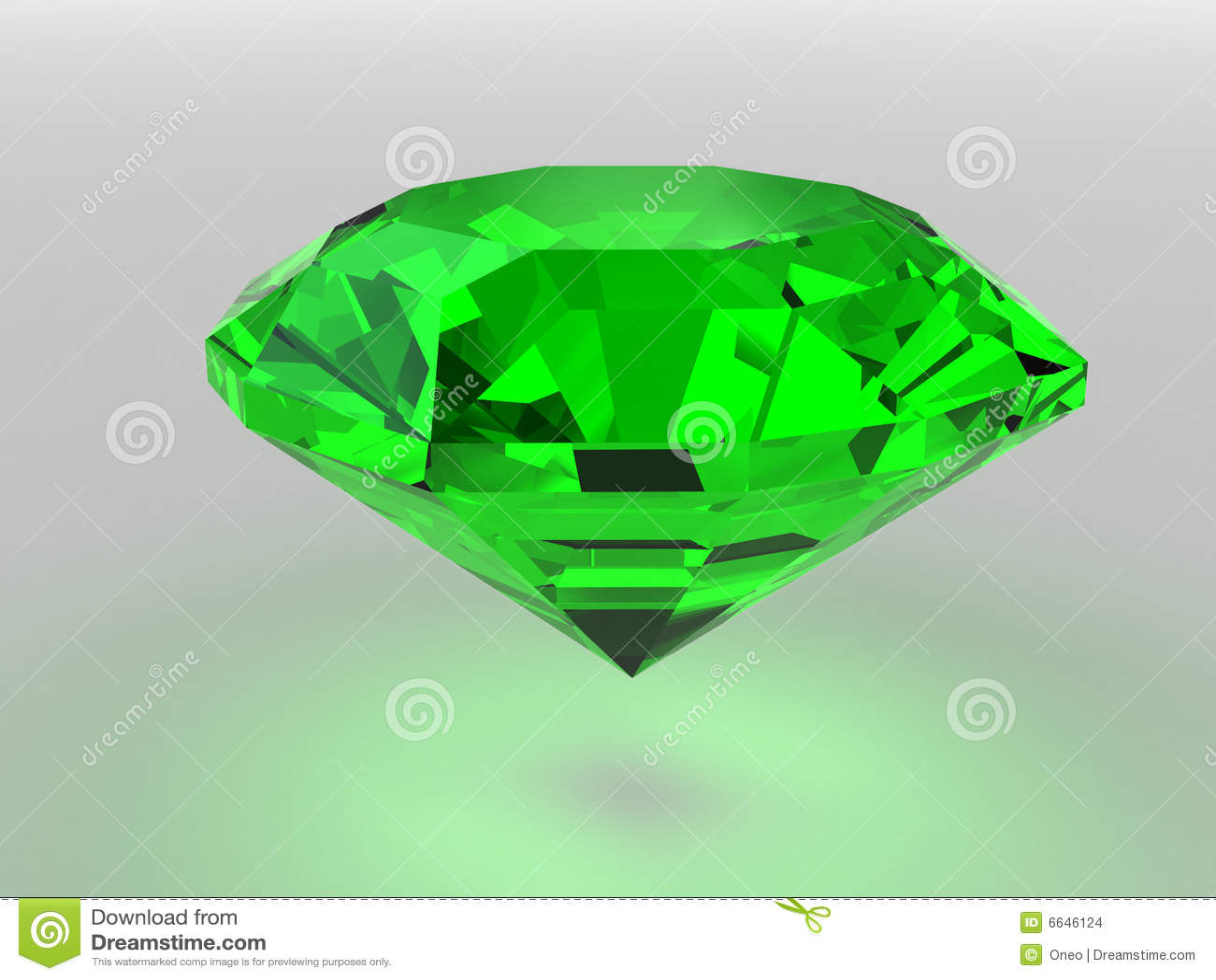 Green Gemstone Stock Illustration Image Of Studio