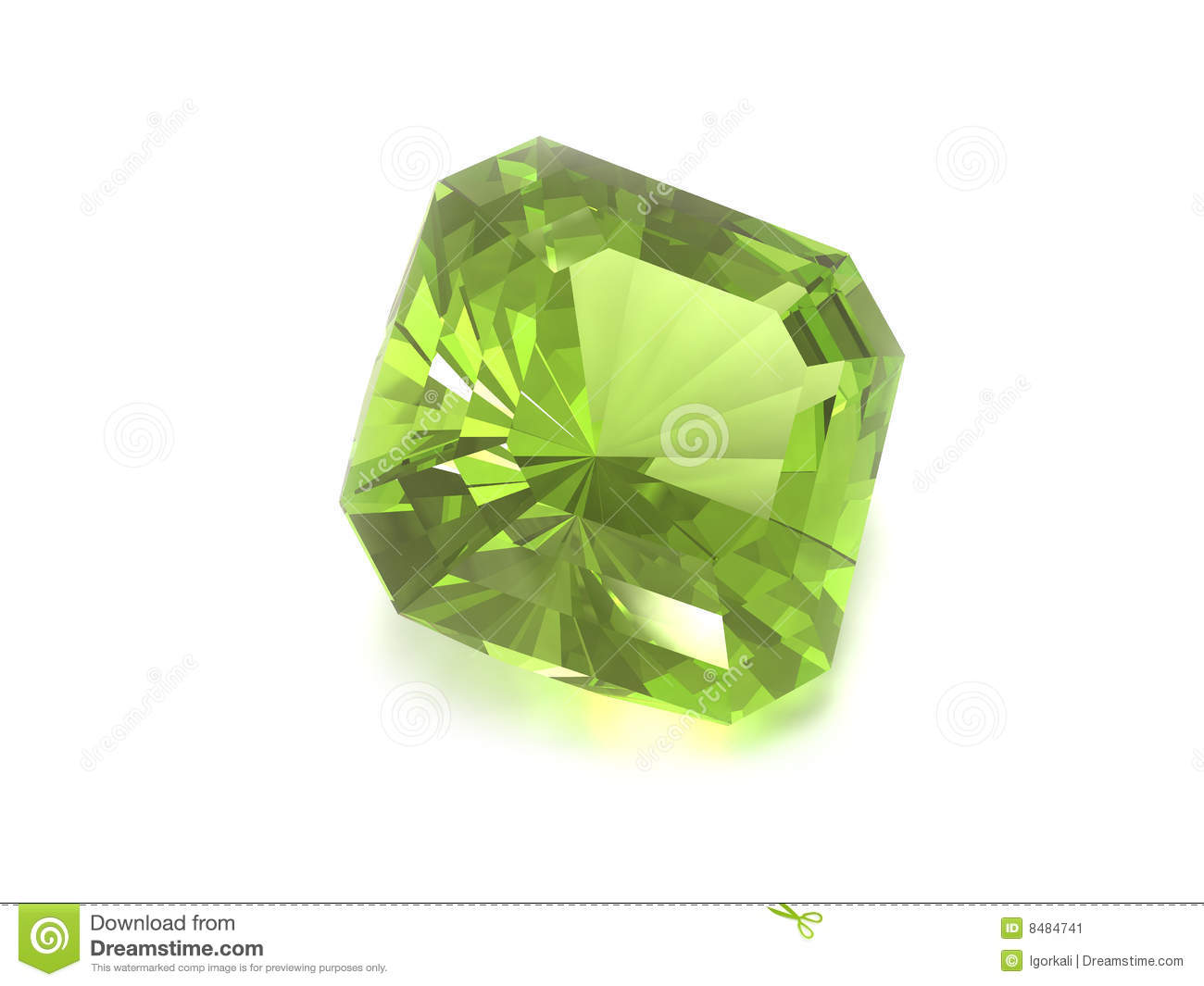 Green Gemstone Stock Image Image 8484741