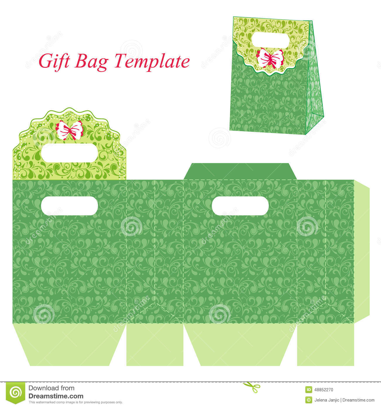 ... bag with round lid. Vector illustration of a box and a box template