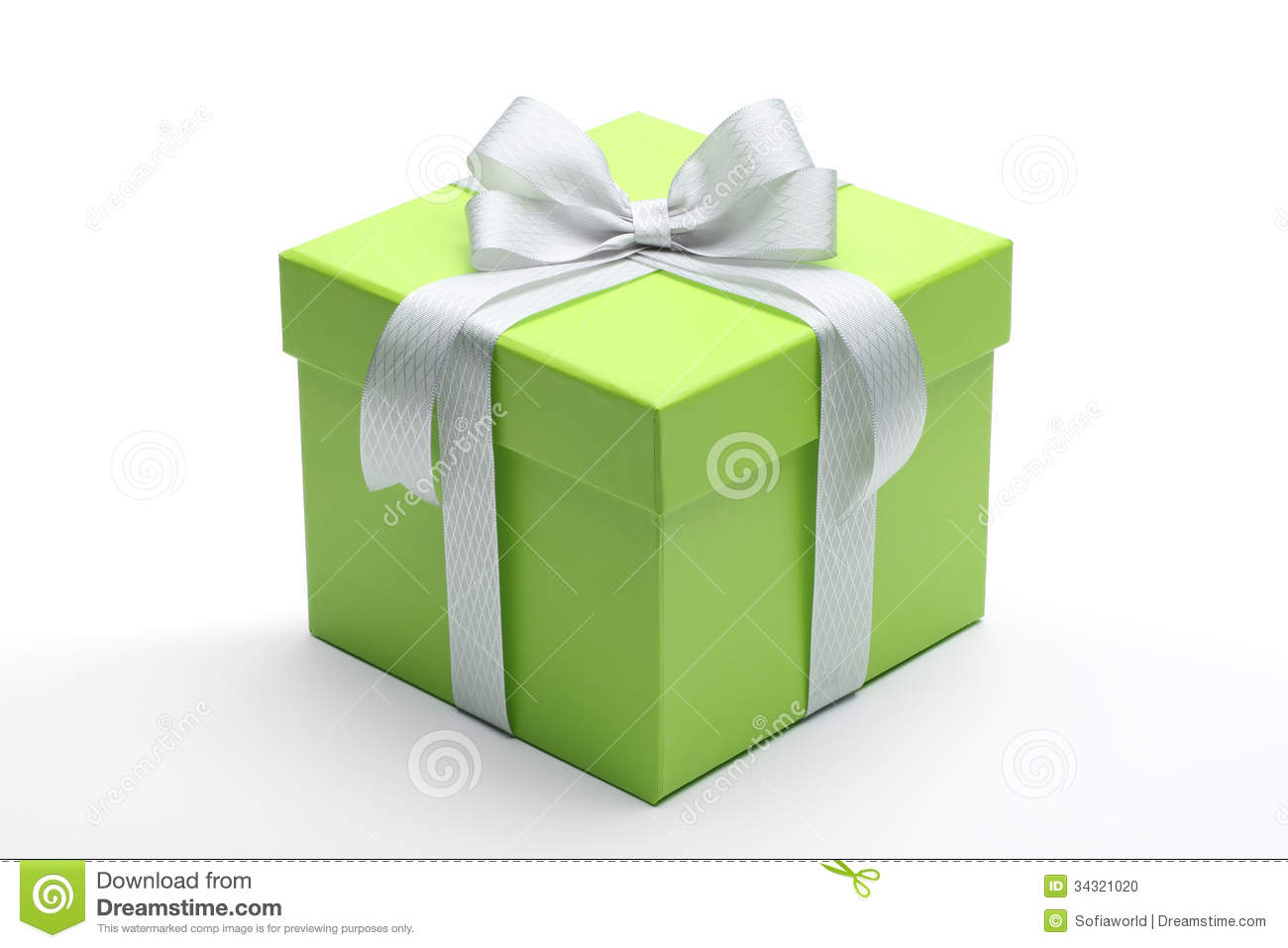 Green Gift Box Stock P...