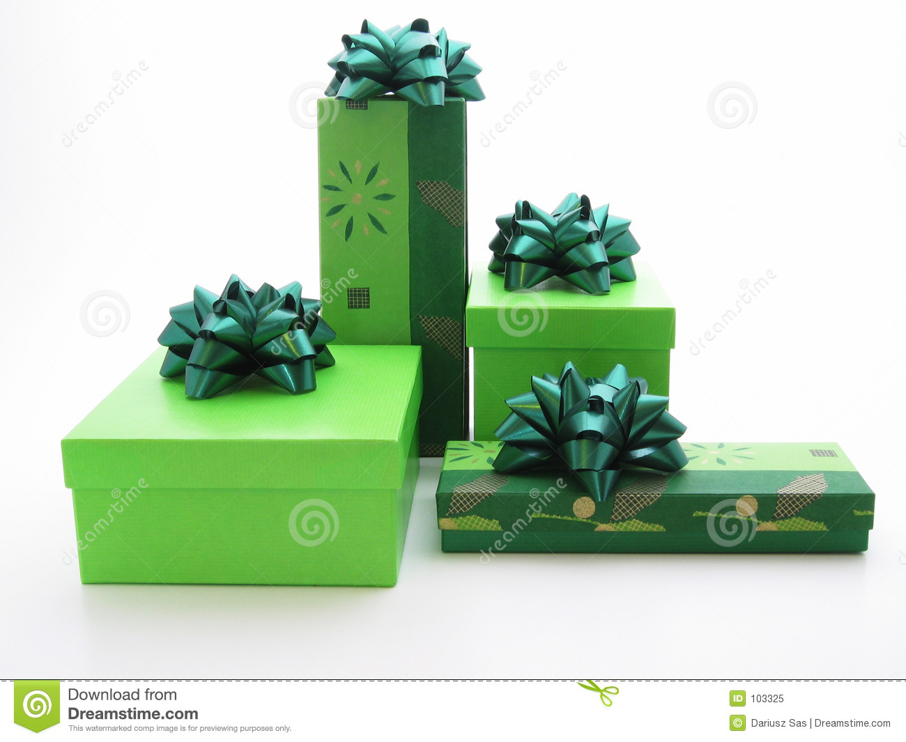 Green Gifts Royalty Free Stock Photo - Image: 103325