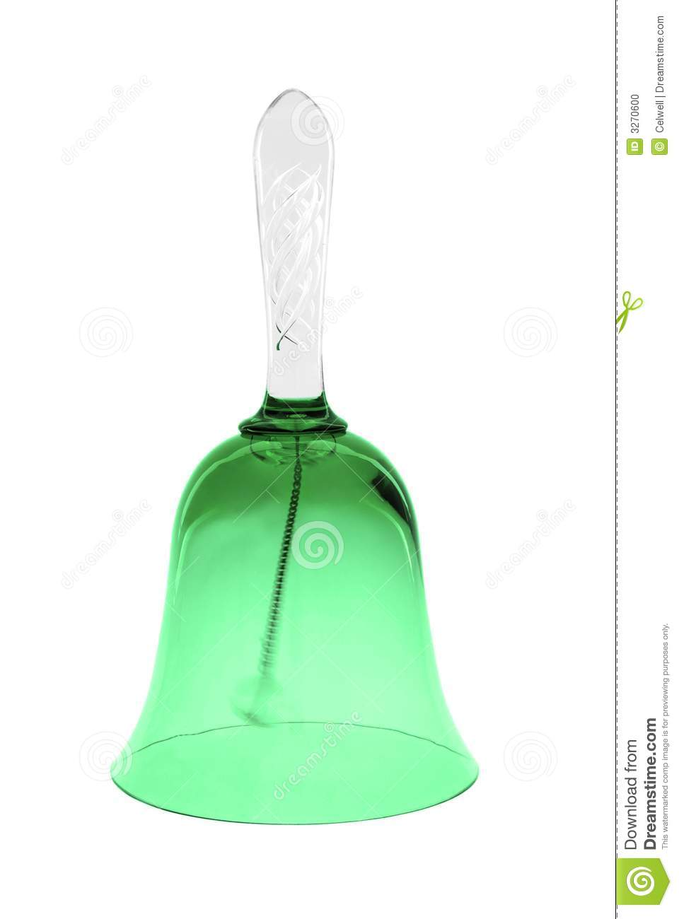 Green Glass Bell Stock Photo Image 3270600