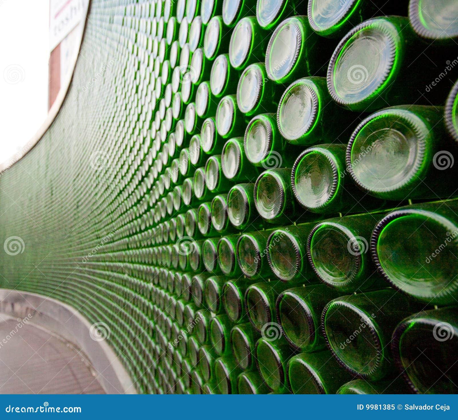 green glass bottle wall 9981385