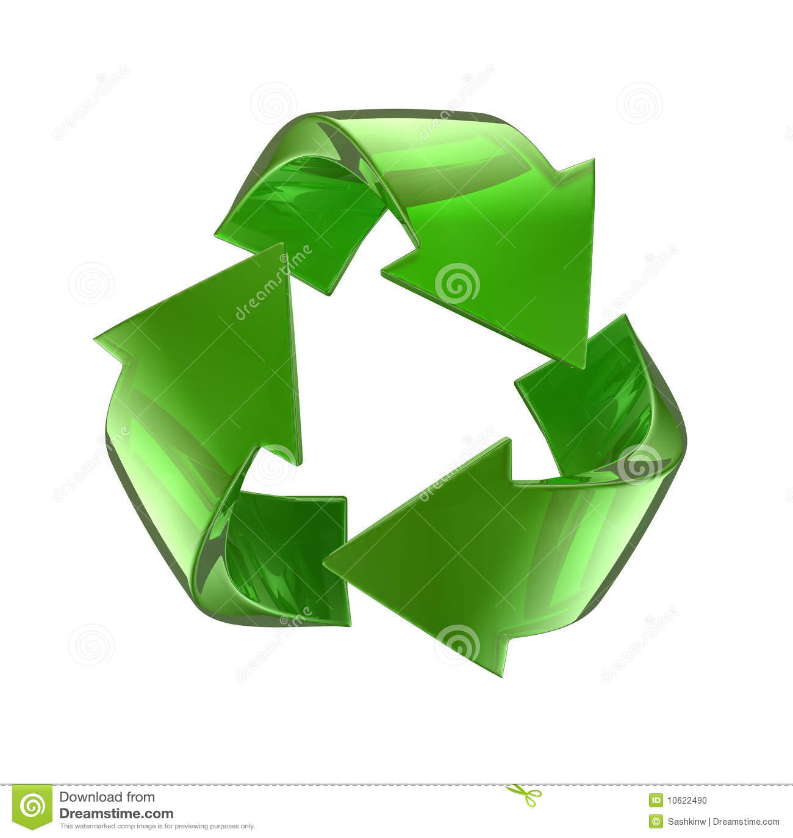 Green Glass Recycle Symbol Stock Illustration Illustration Of