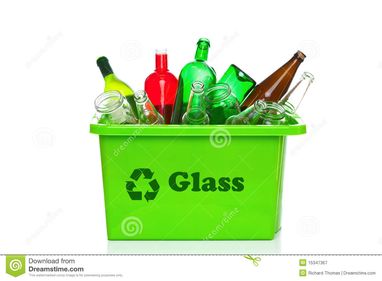 Free Stock Photography  Green glass recycling bin isolated on whiteGlass Recycling Bin