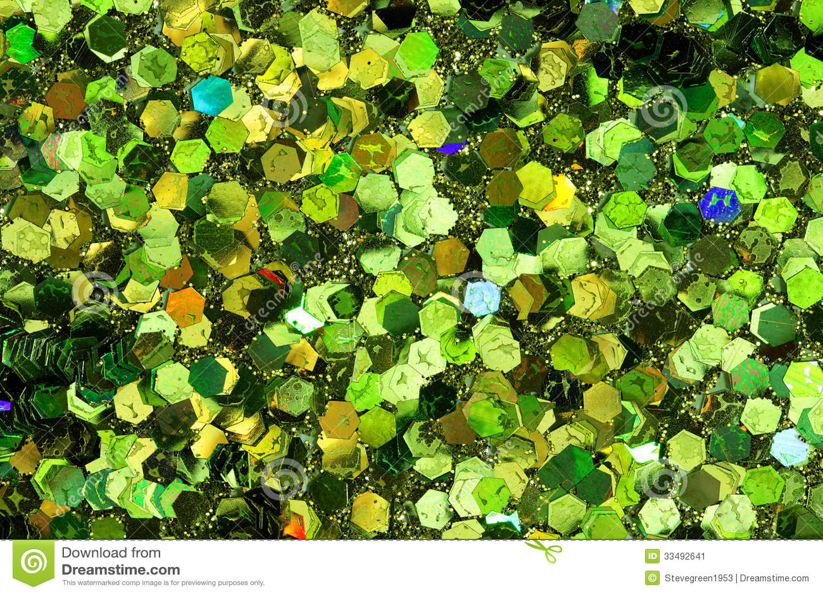 green glitter background stock image
