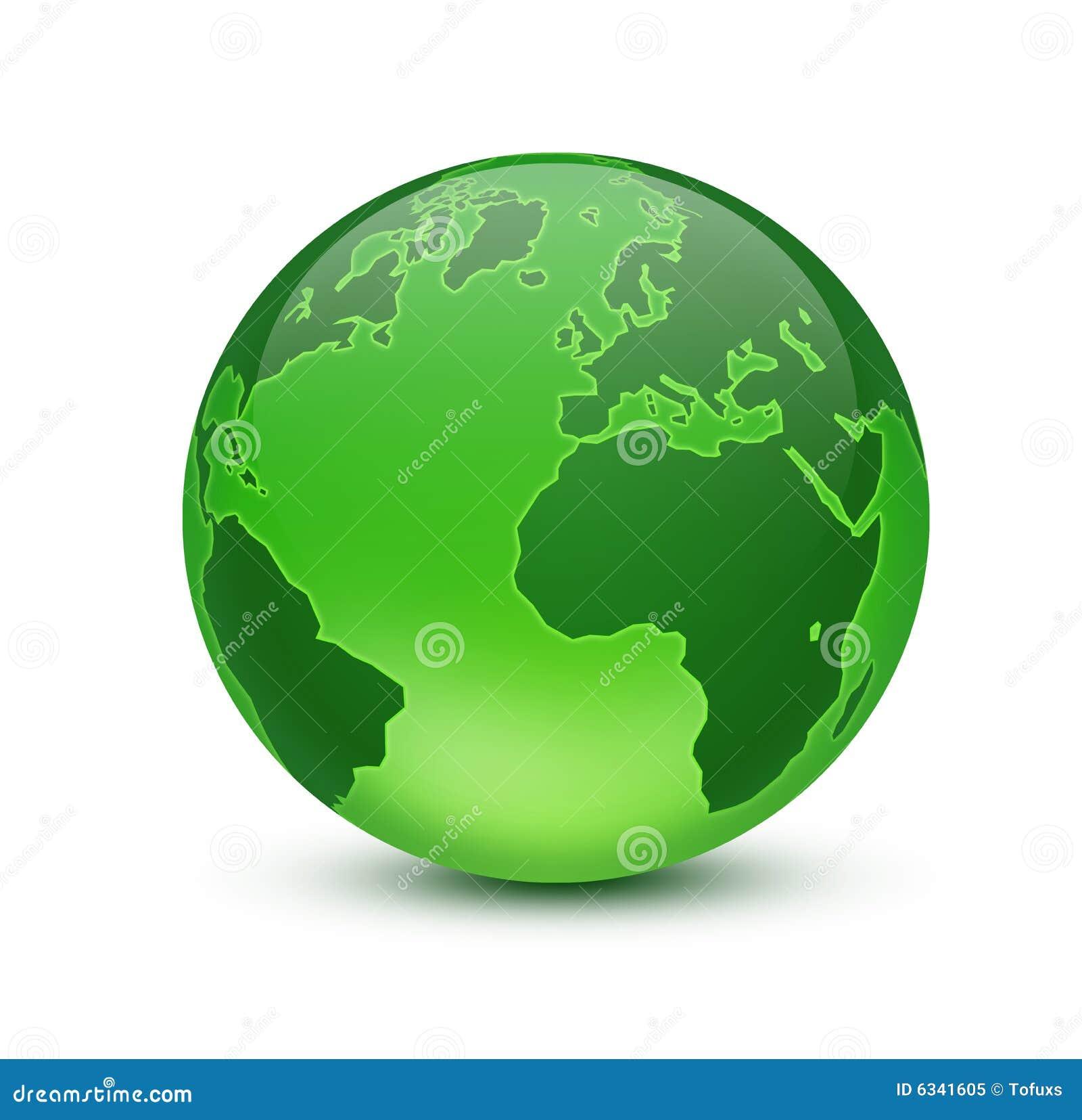 Green Globe Stock Illustration Illustration Of Continent 6341605