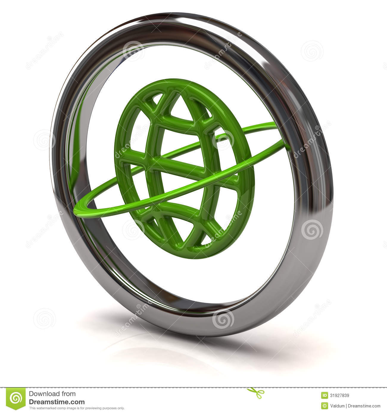 Green Globe Icon Royalty Free Stock Images - Image: 31927839