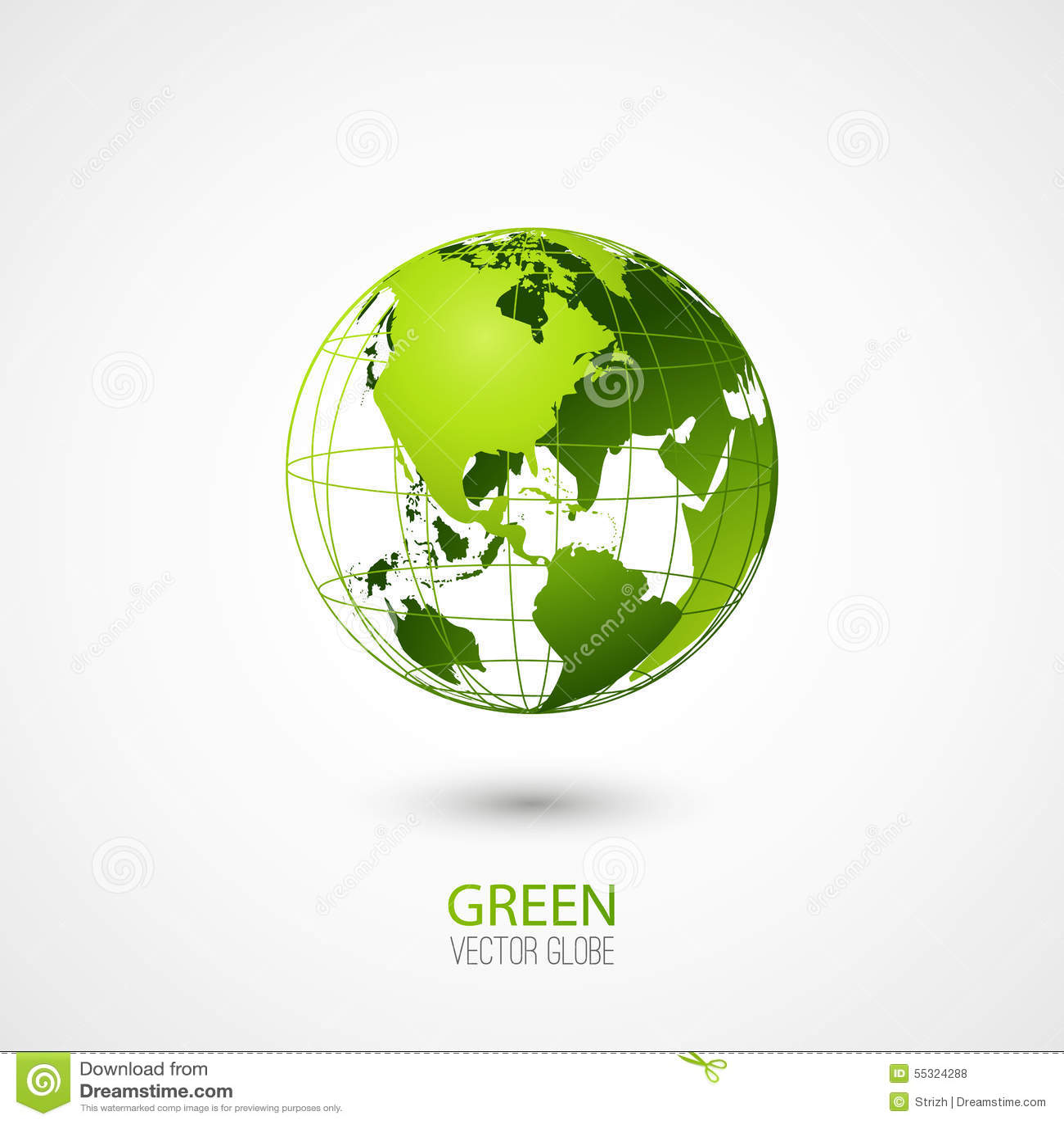 Green Globe Stock Illustration - Image: 55324288