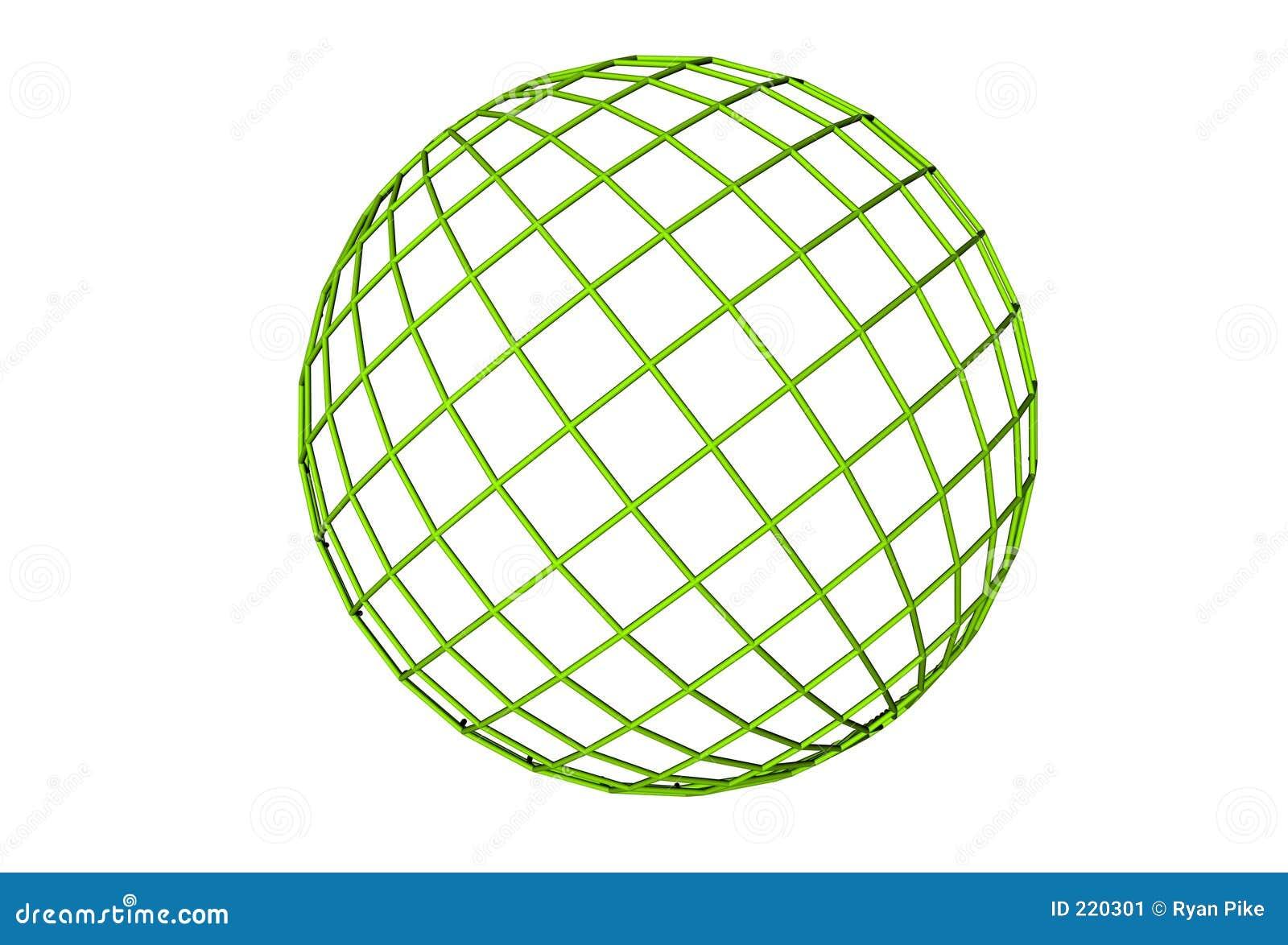 Green globu