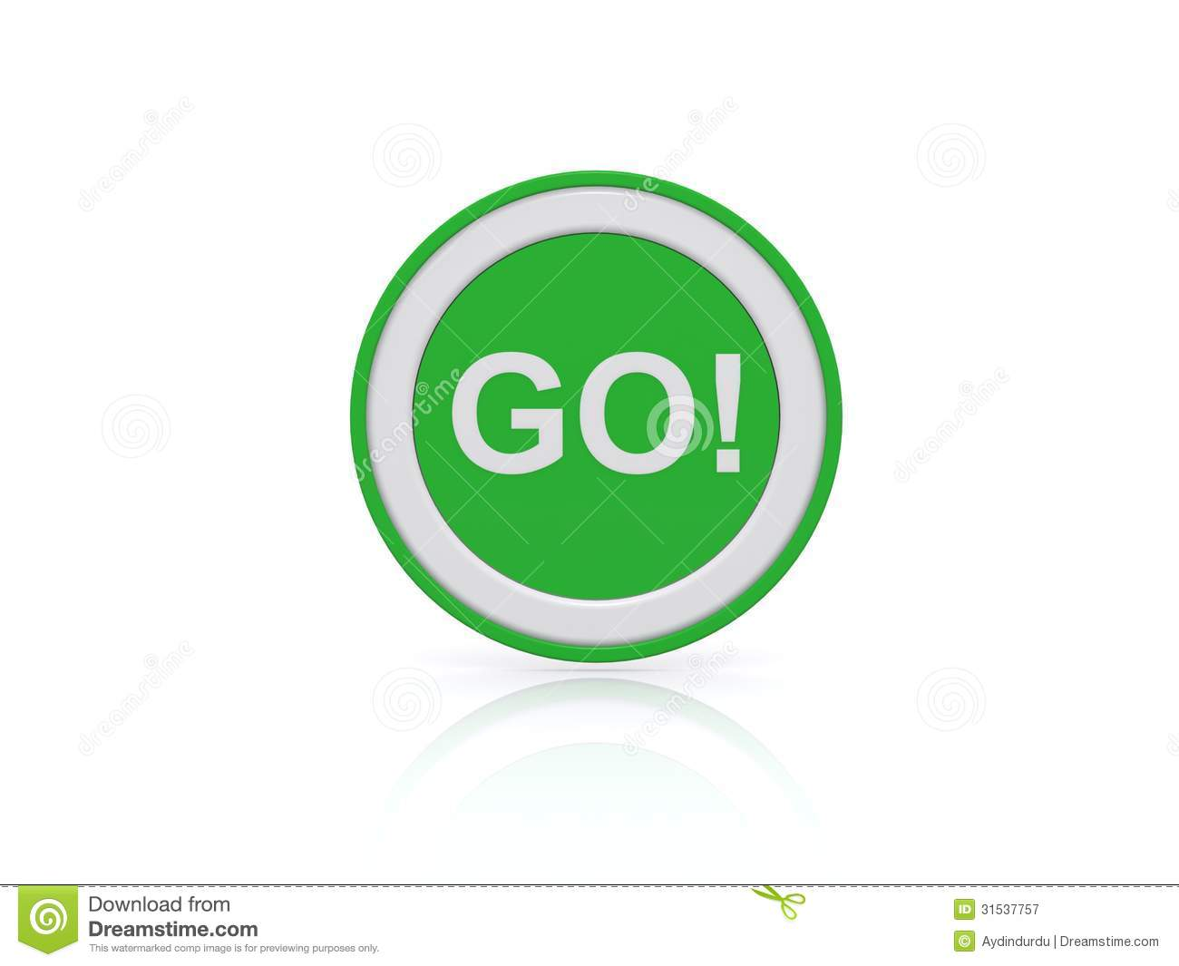 Green Go Button Or Icon Stock Illustration Illustration Of Isolated