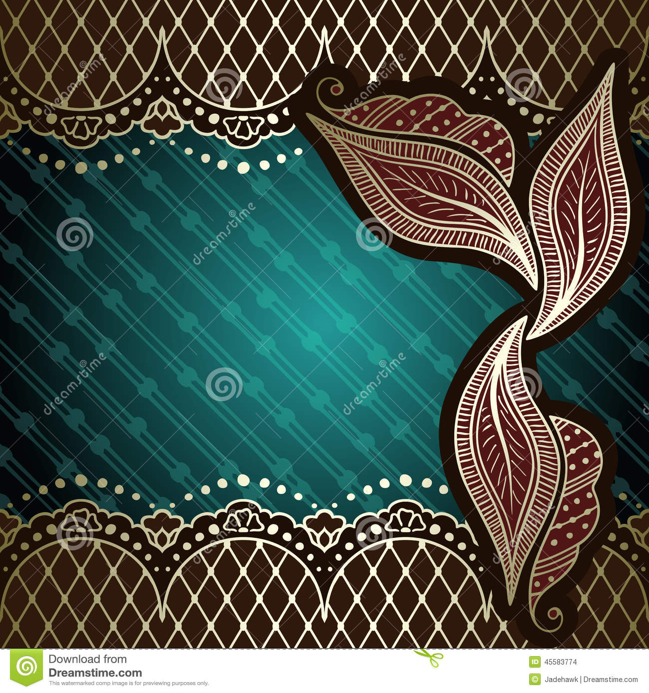 Mehndi Backdrop Ideas : Green gold background inspired by indian mehndi stock