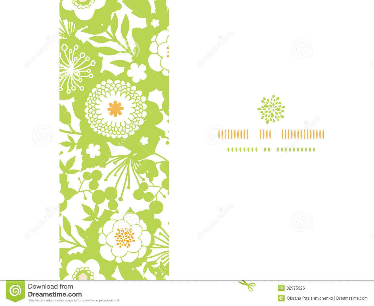 Green And Golden Garden Silhouettes Horizontal Royalty