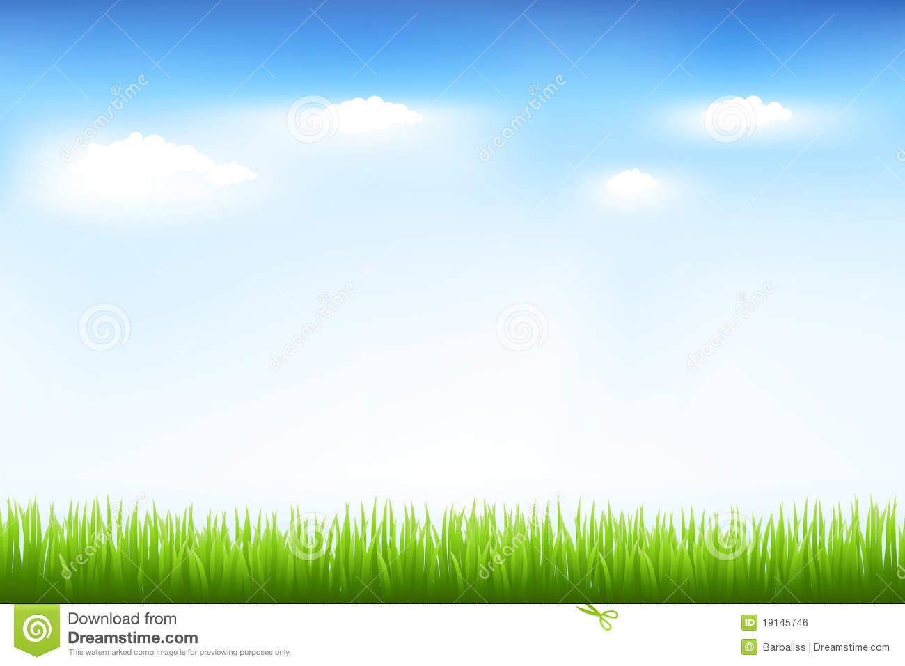Green Grass And Blue Sky Royalty Free Stock Image - Image ...
