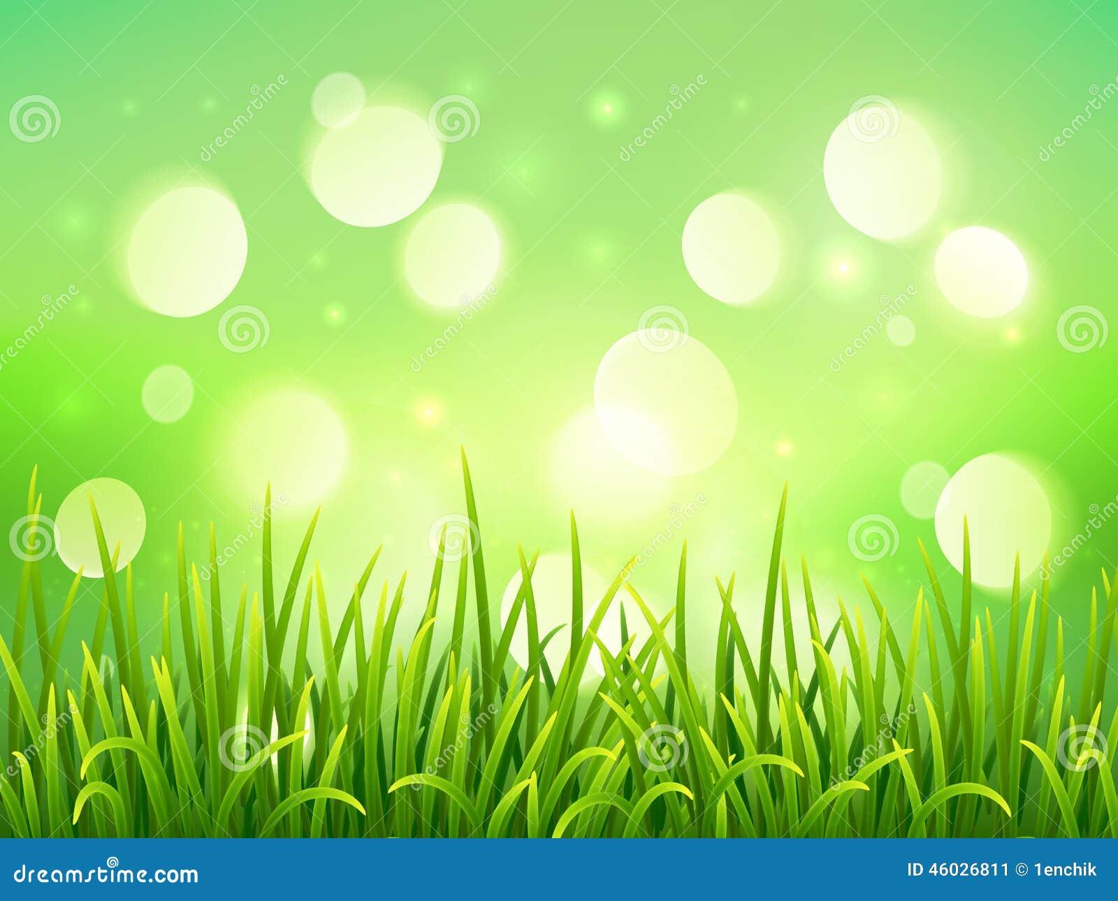 Green Grass On Bokeh Light Effect Background Stock Vector ... for Green Light Effects Background  156eri