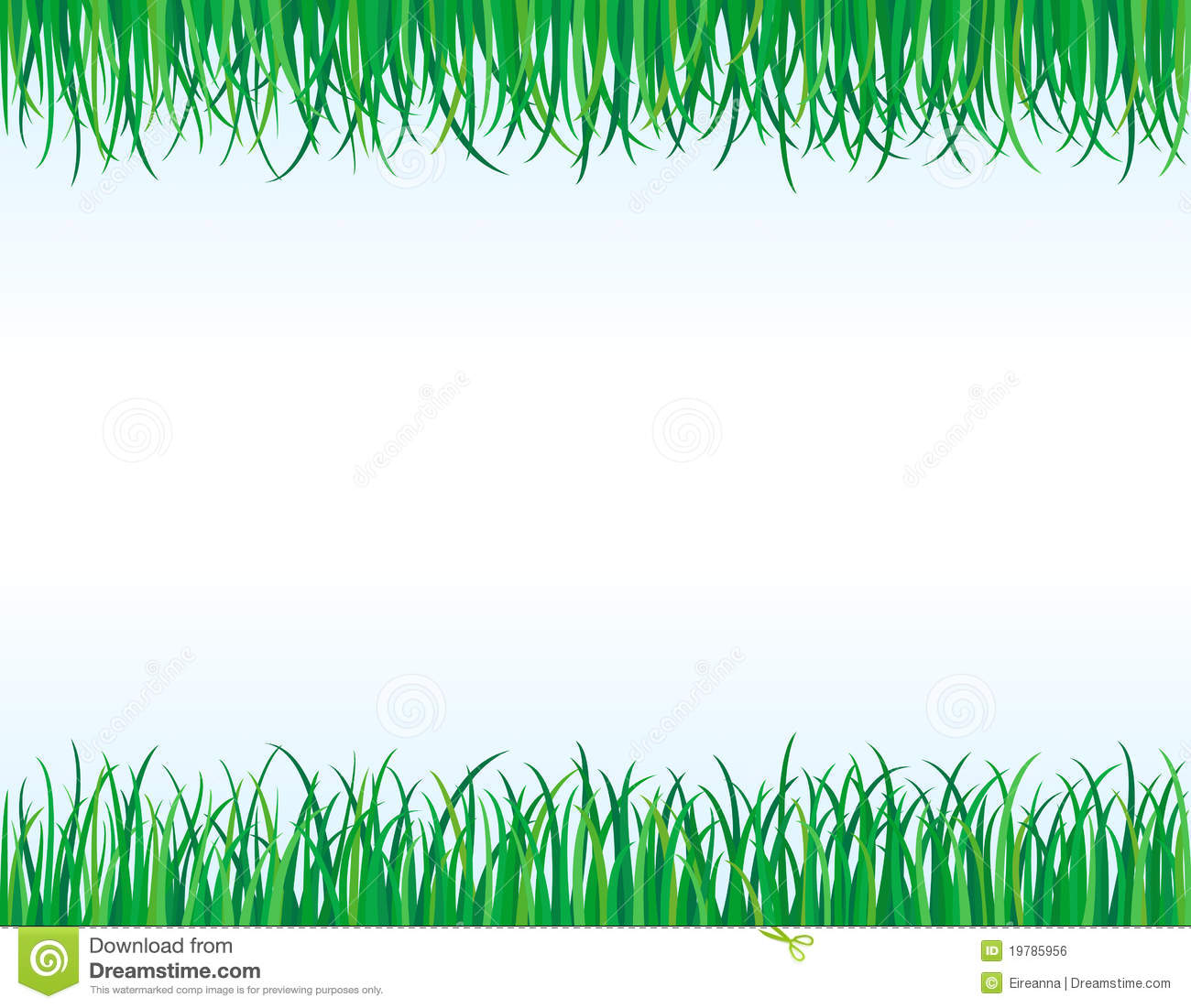 Grass Border No Background Green Grass Borders Set On