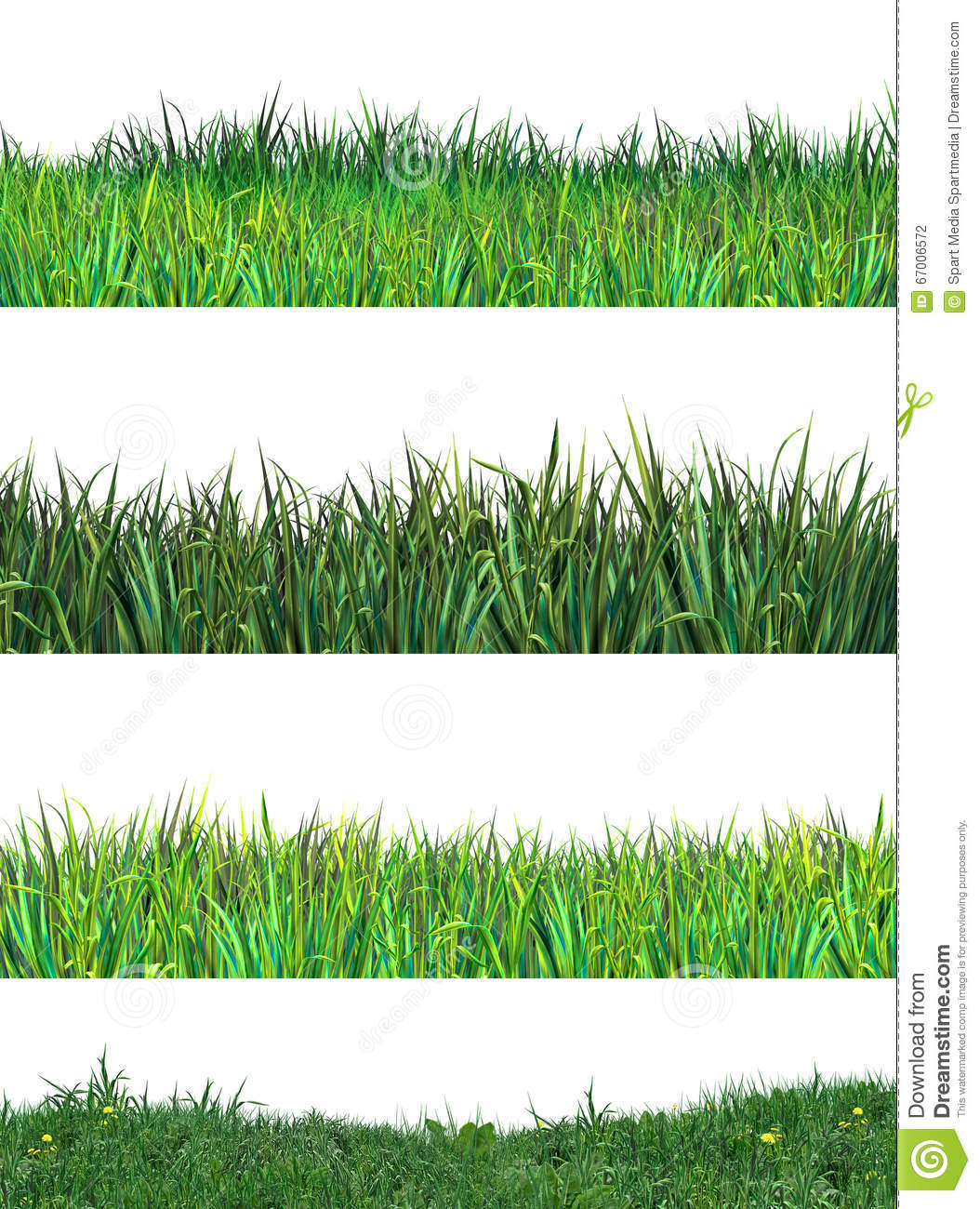 Download Green Grass Set Clip Art Grassland Stock Photo - Illustration of abstract, decor: 67006572