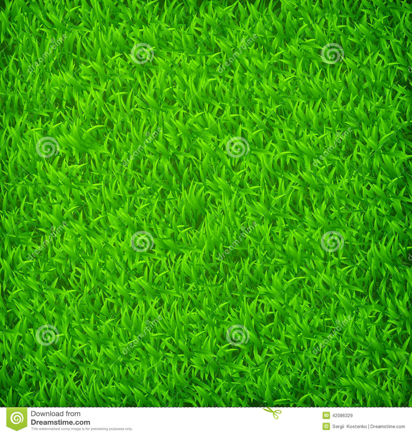 Green grass field stock vector Illustration of green 42086329