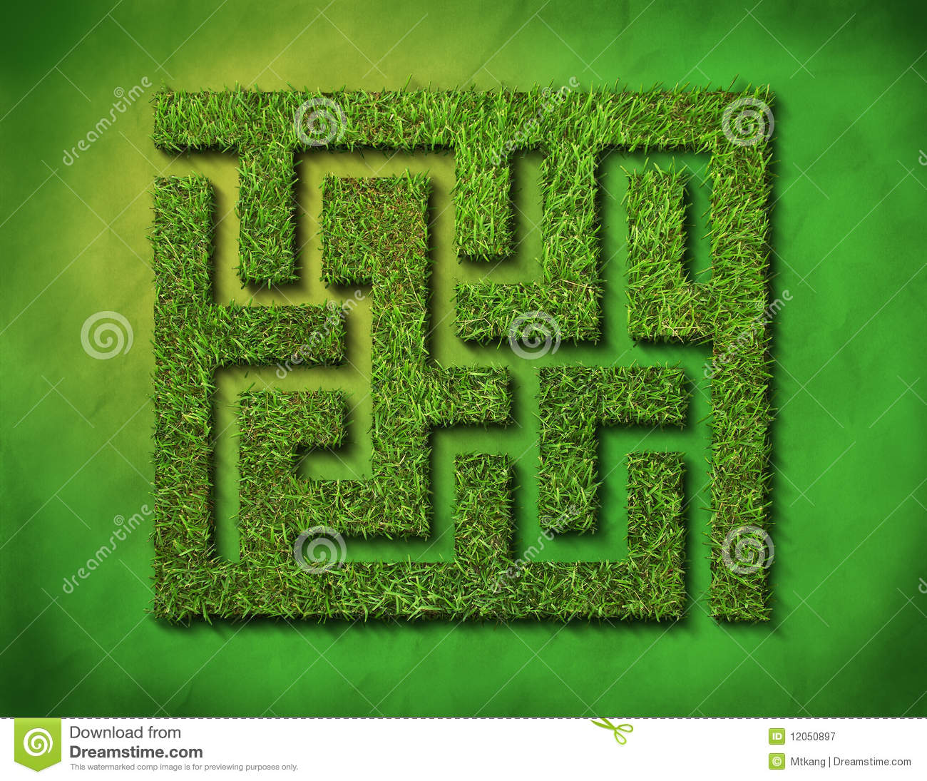 Green Grass Maze Stock Image Image Of Lost Environmental