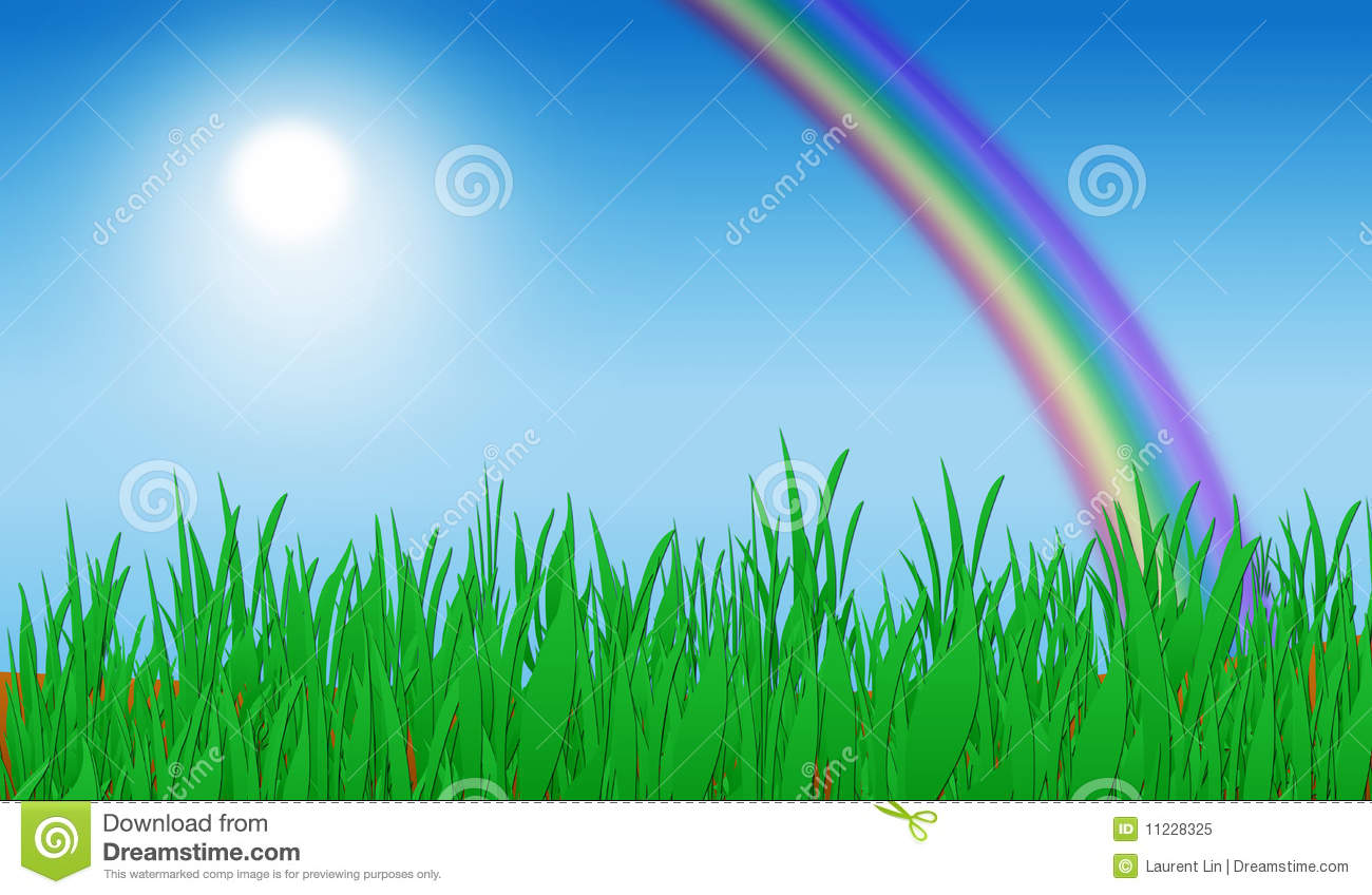 green grass rainbow background stock illustration image free clipart summer scenes free clipart summer background